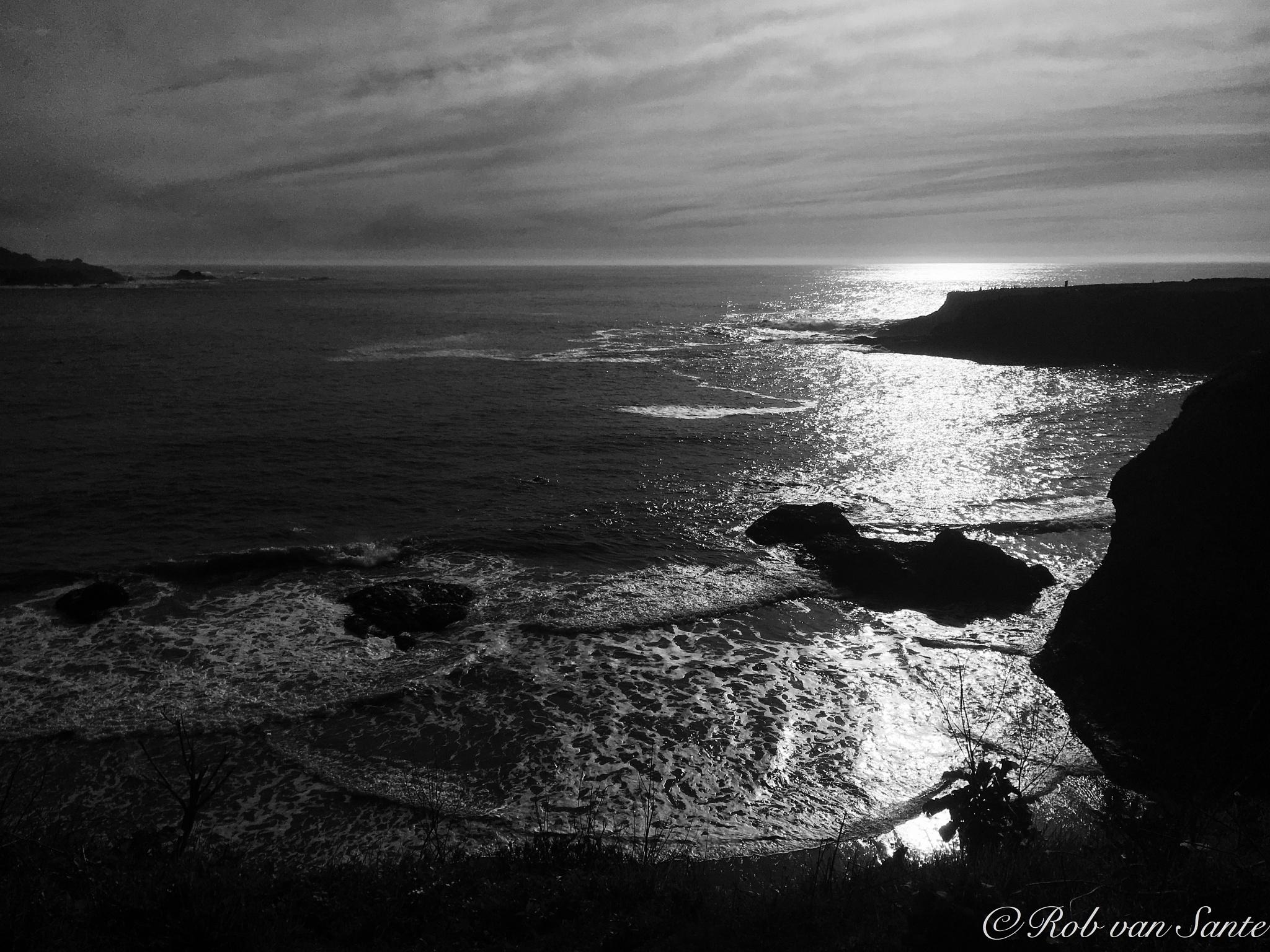 Photo in Black and White #sea #mendocino #coast #atlantic #black and white #usa