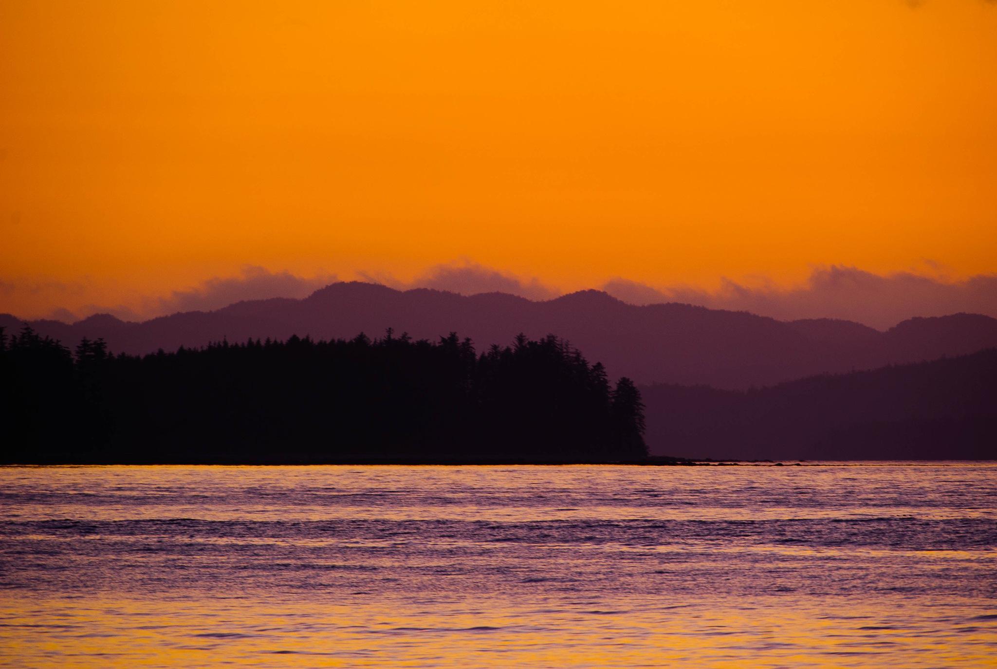 dusk on Vancouver Island Canada by jkirkphotography.com