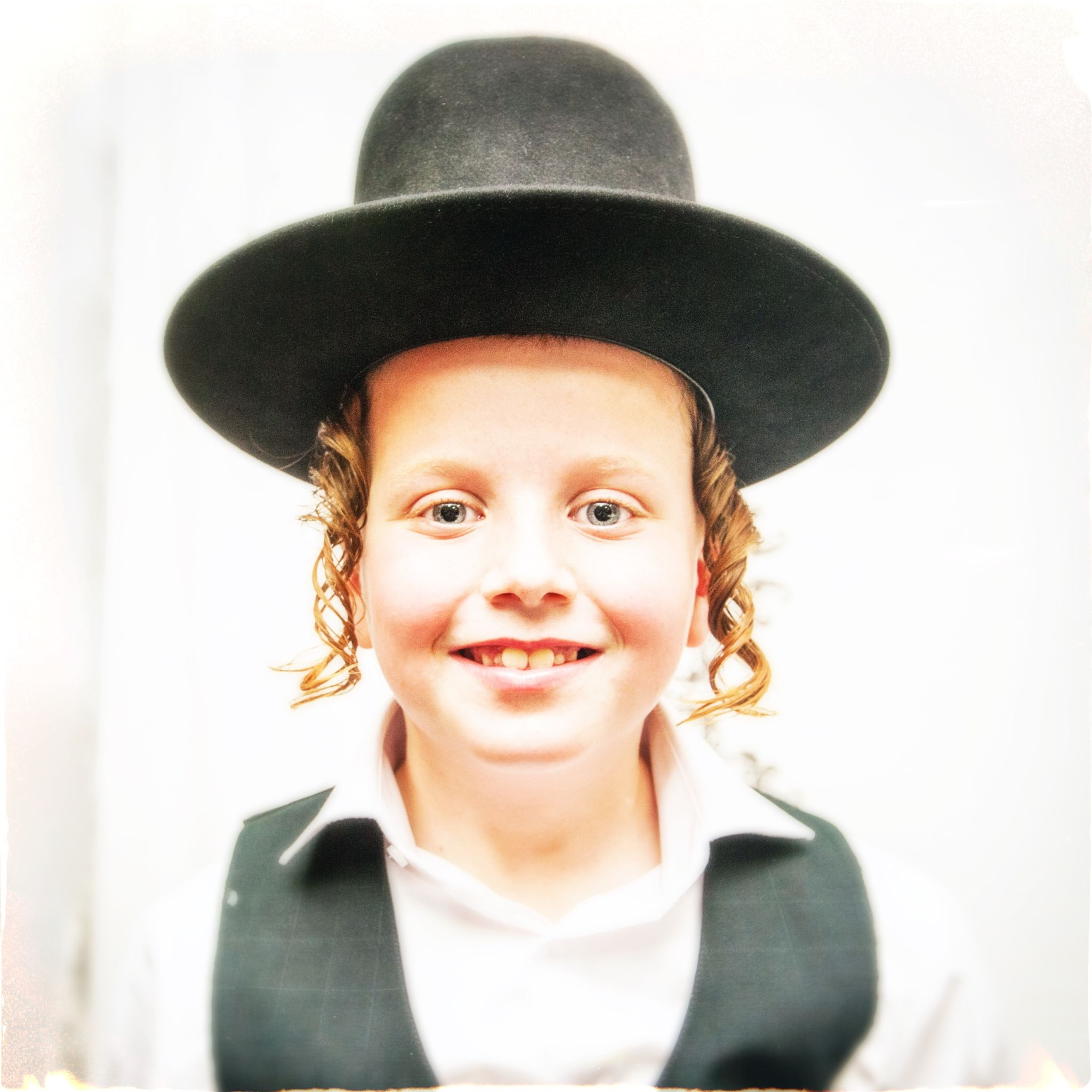 young Jewish Boy in Black Hat by Max Shamota