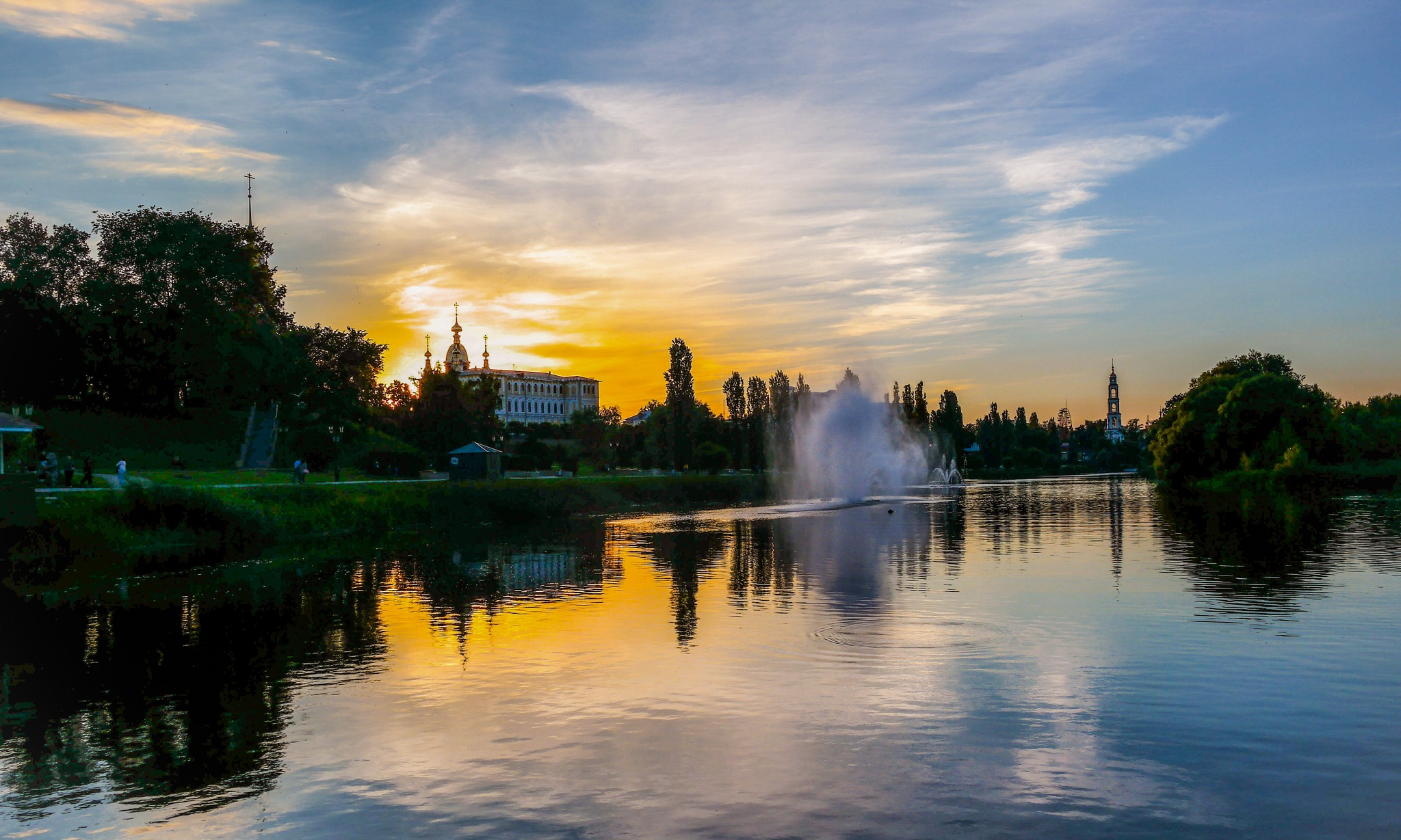 On the river Tsna............. by Alexandr  Seleznev
