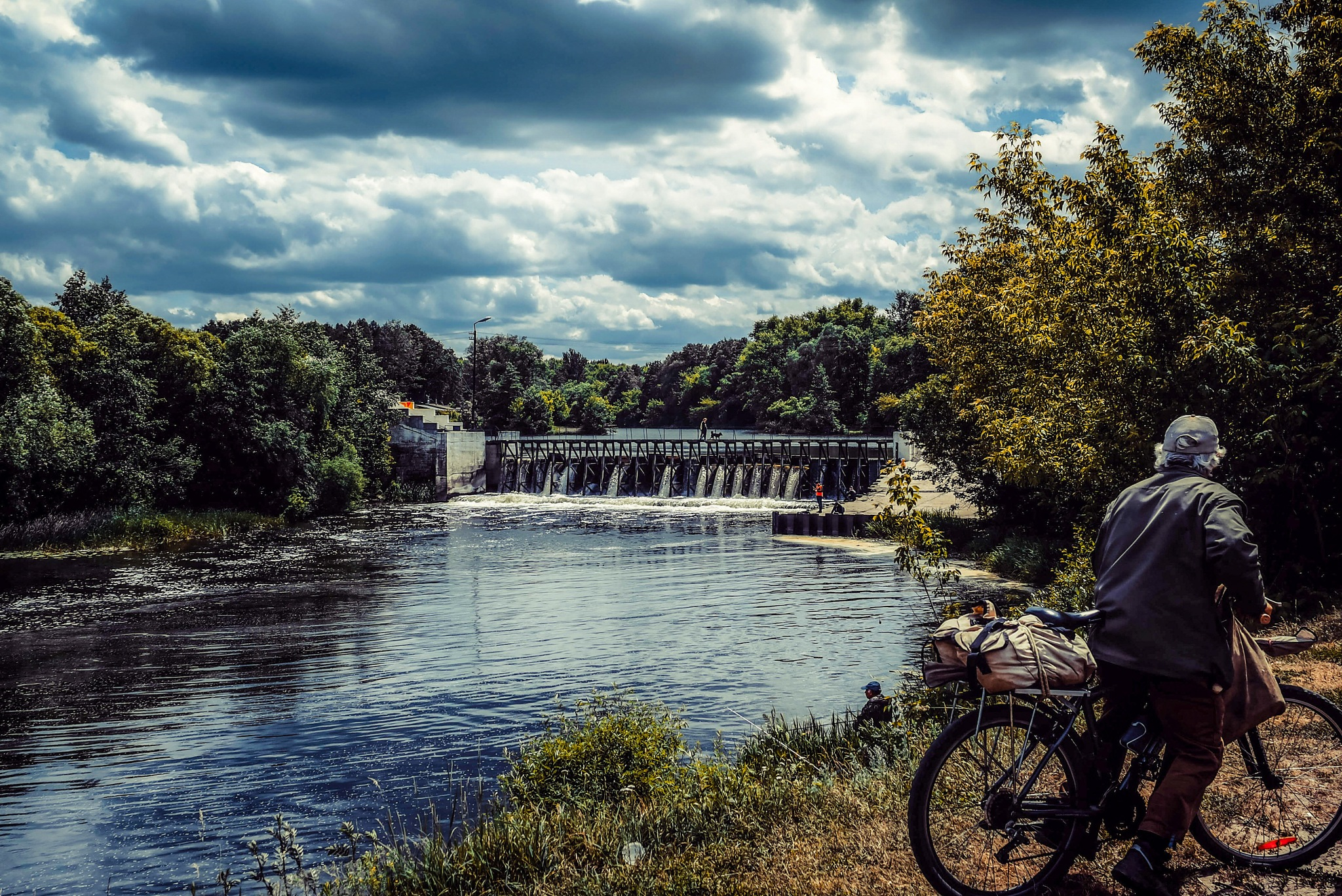 At the village dam.................. by Alexandr  Seleznev