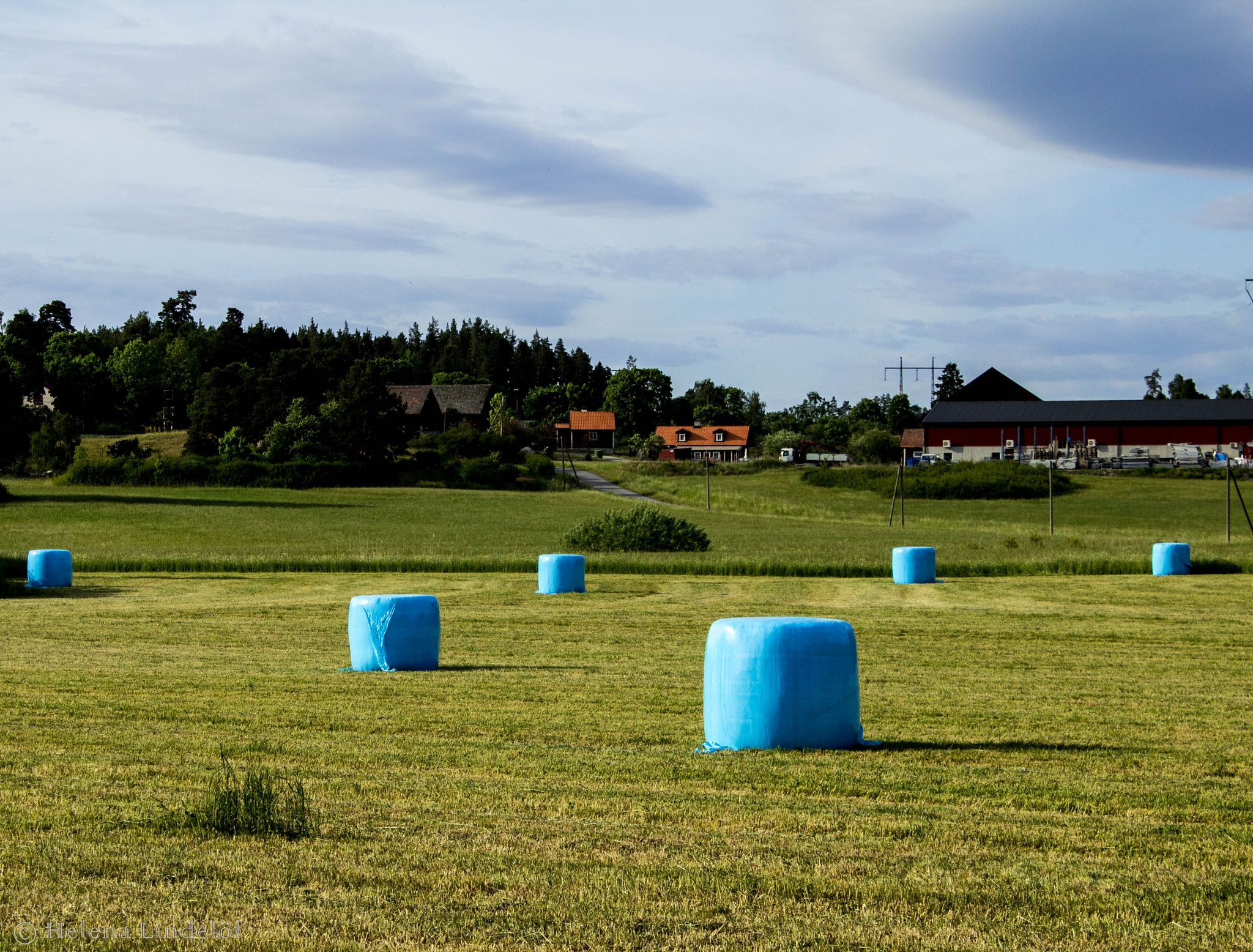 Photo in Rural #haylage #blue