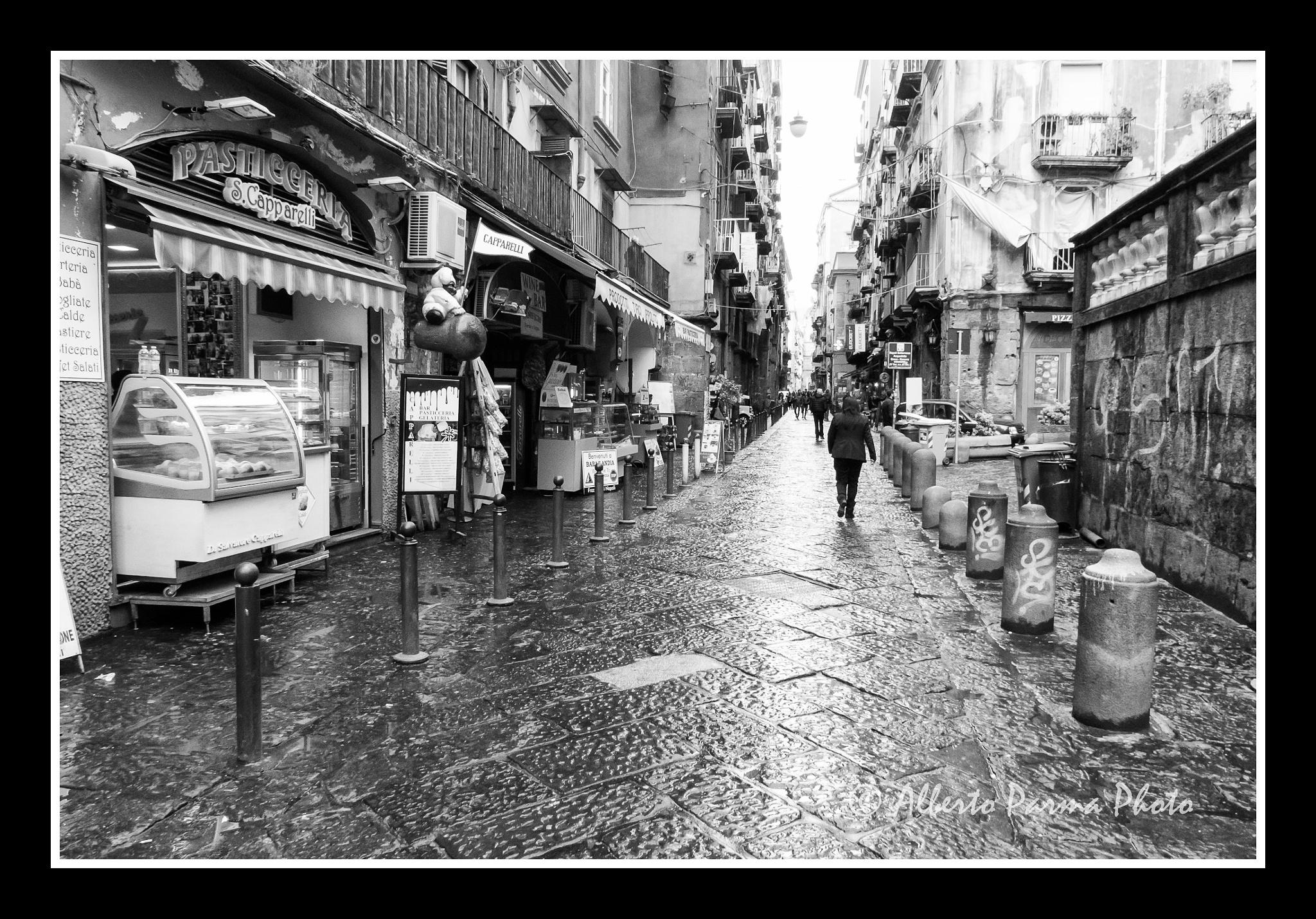 Photo in Random #italy #naples #street #black and white