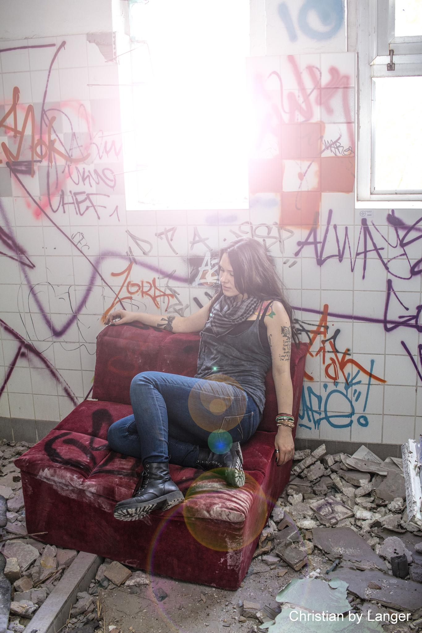 Photo in Portrait #model #graffiti #urban #tattoos