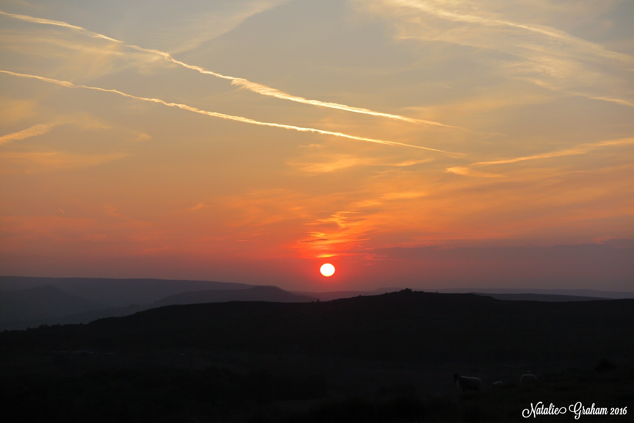 Sunset at Longshaw by Natalie Graham