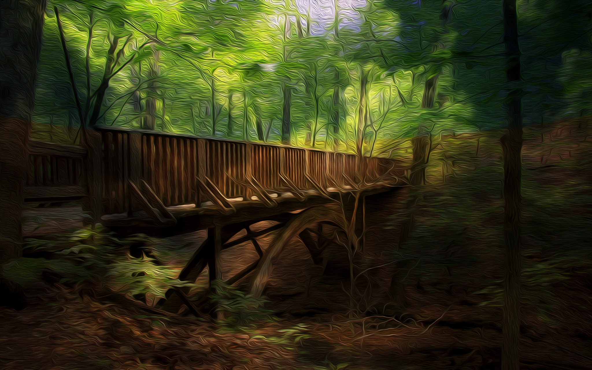 The Wooden Bridge by John Hill