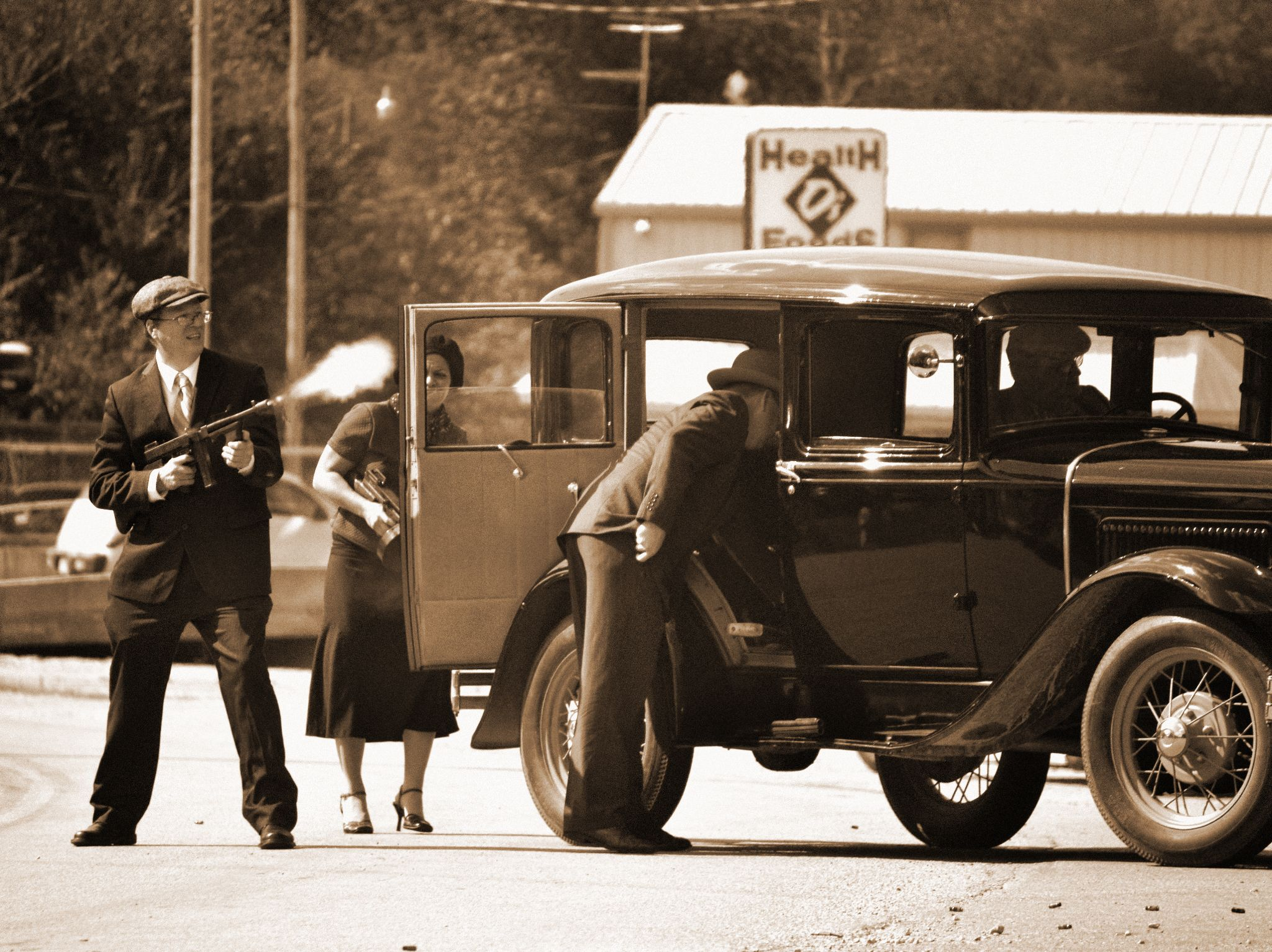 1934 Shootout with Galena Police at Reeds Spring by Debbie Bridges