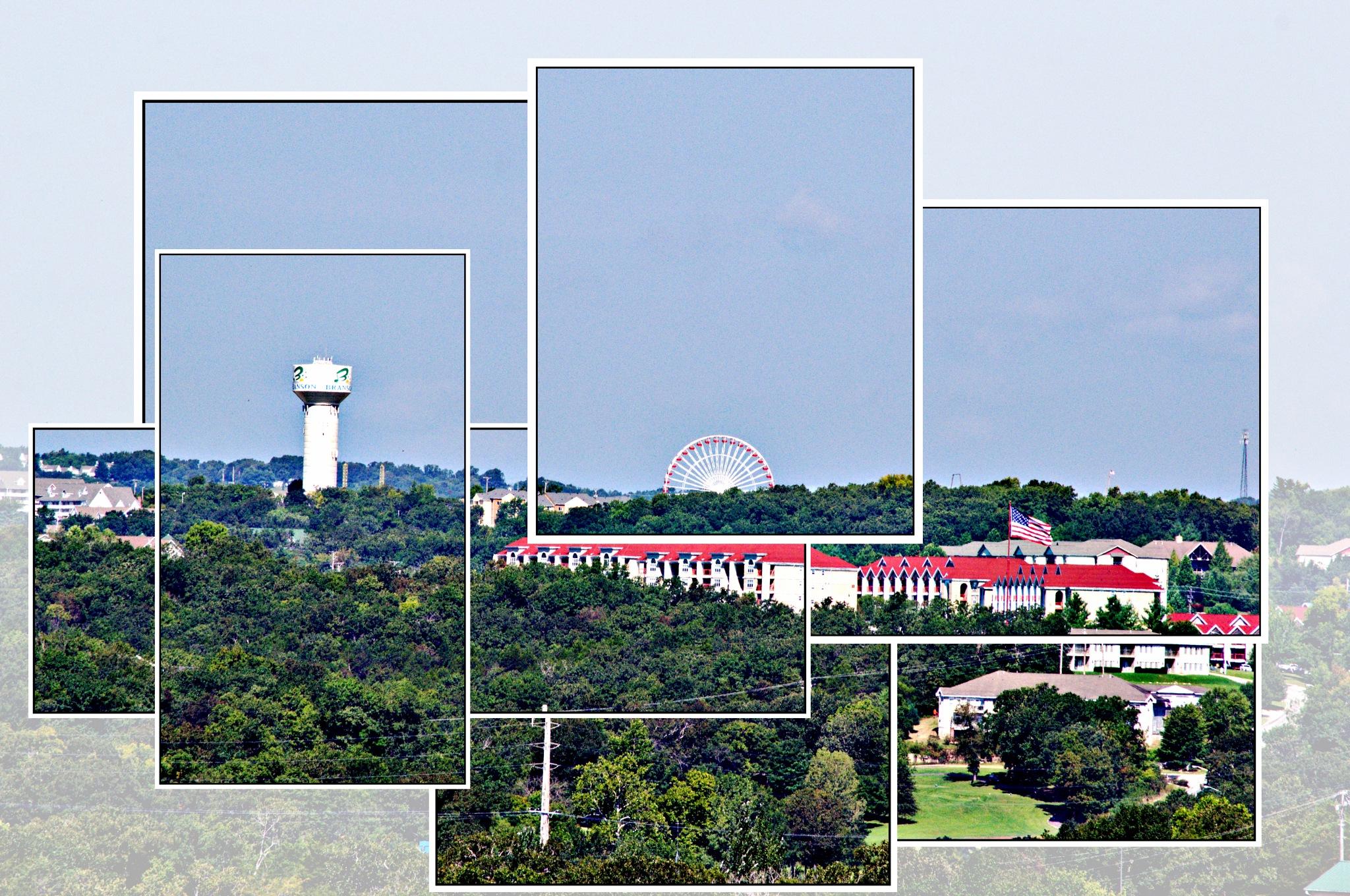 Branson Ferriss Wheel Lookout Point Montage by Debbie Bridges