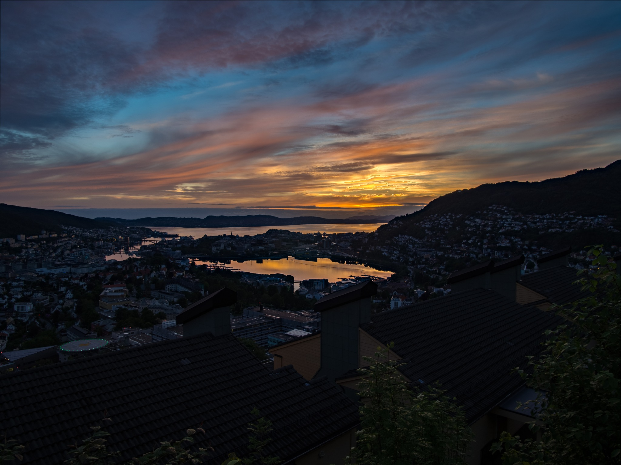 HDR Sunset over Bergen by Steven Harrison Snoots