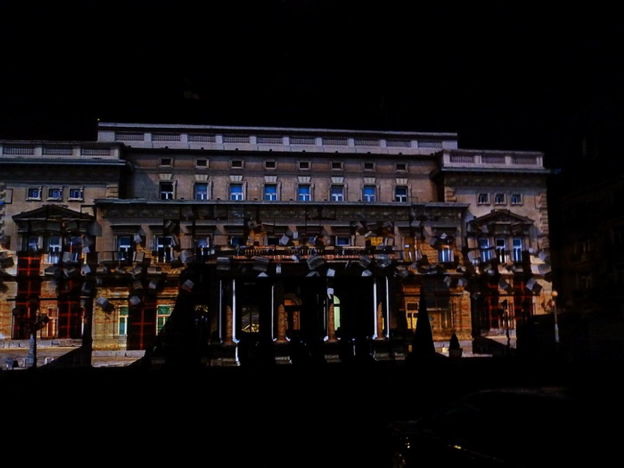 old  palace in Belgrade by Vladimir Curcin