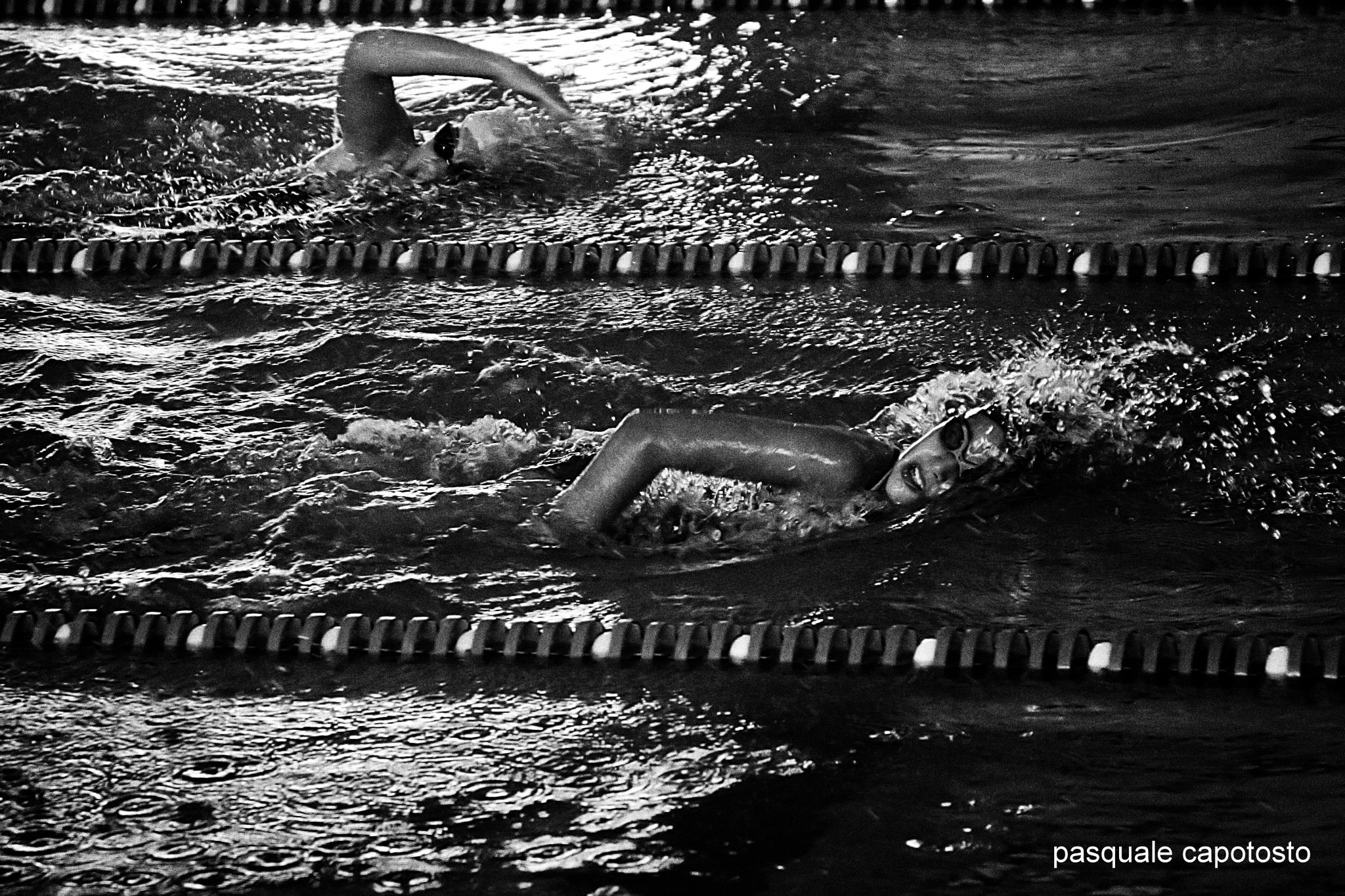 Photo in Black and White #pool #swiming