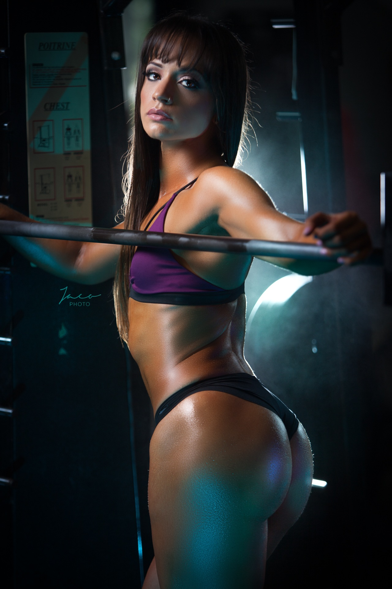 Cari at gym by Tony Pavone