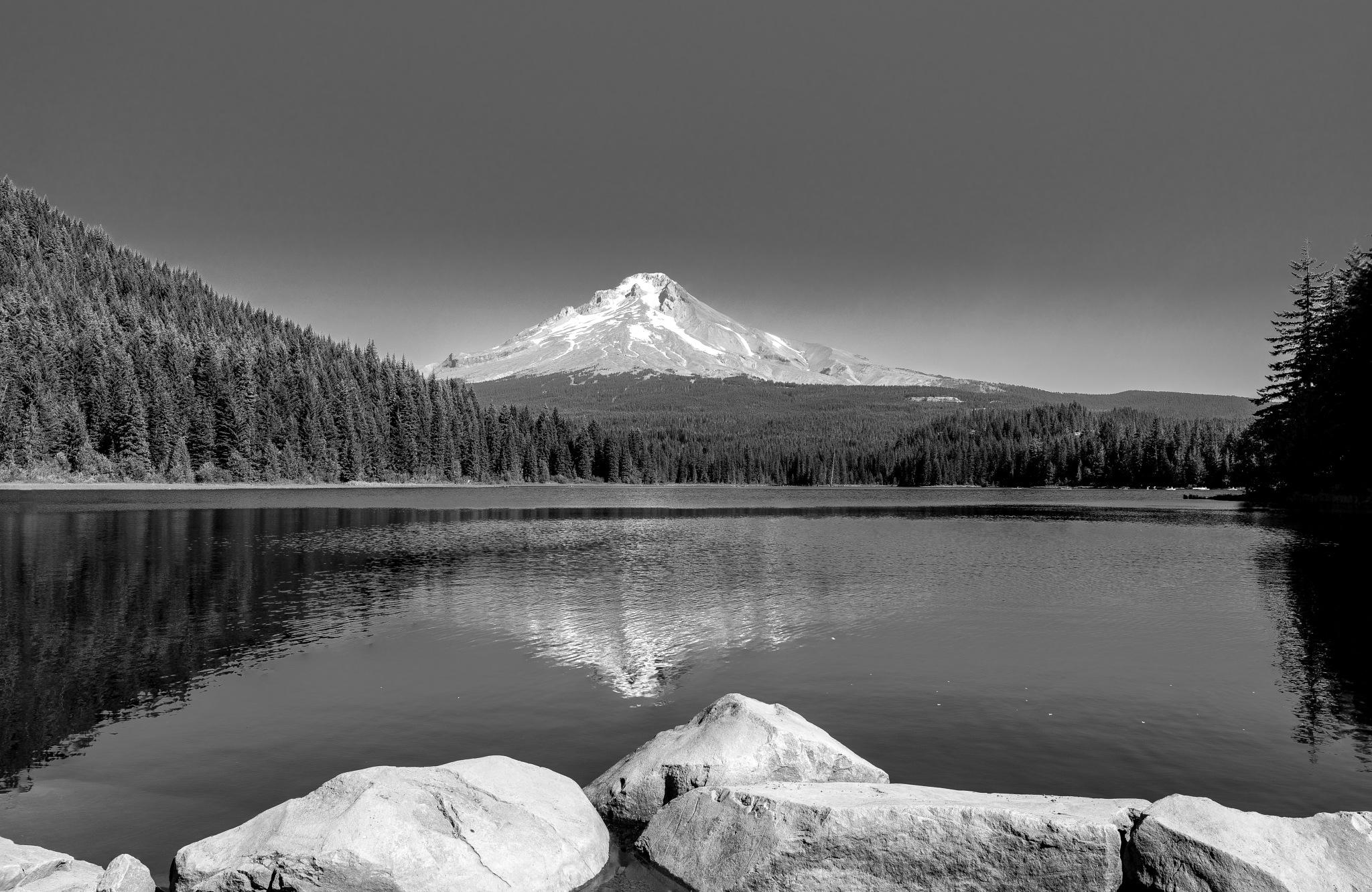 Trillium Lake by John Weigel