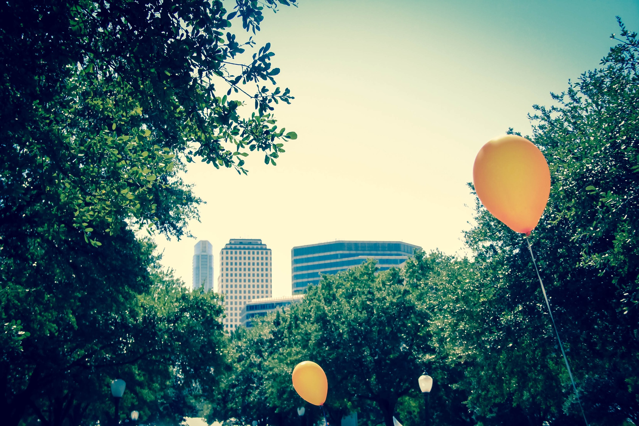 The yellow balloons by ThroughMyLens