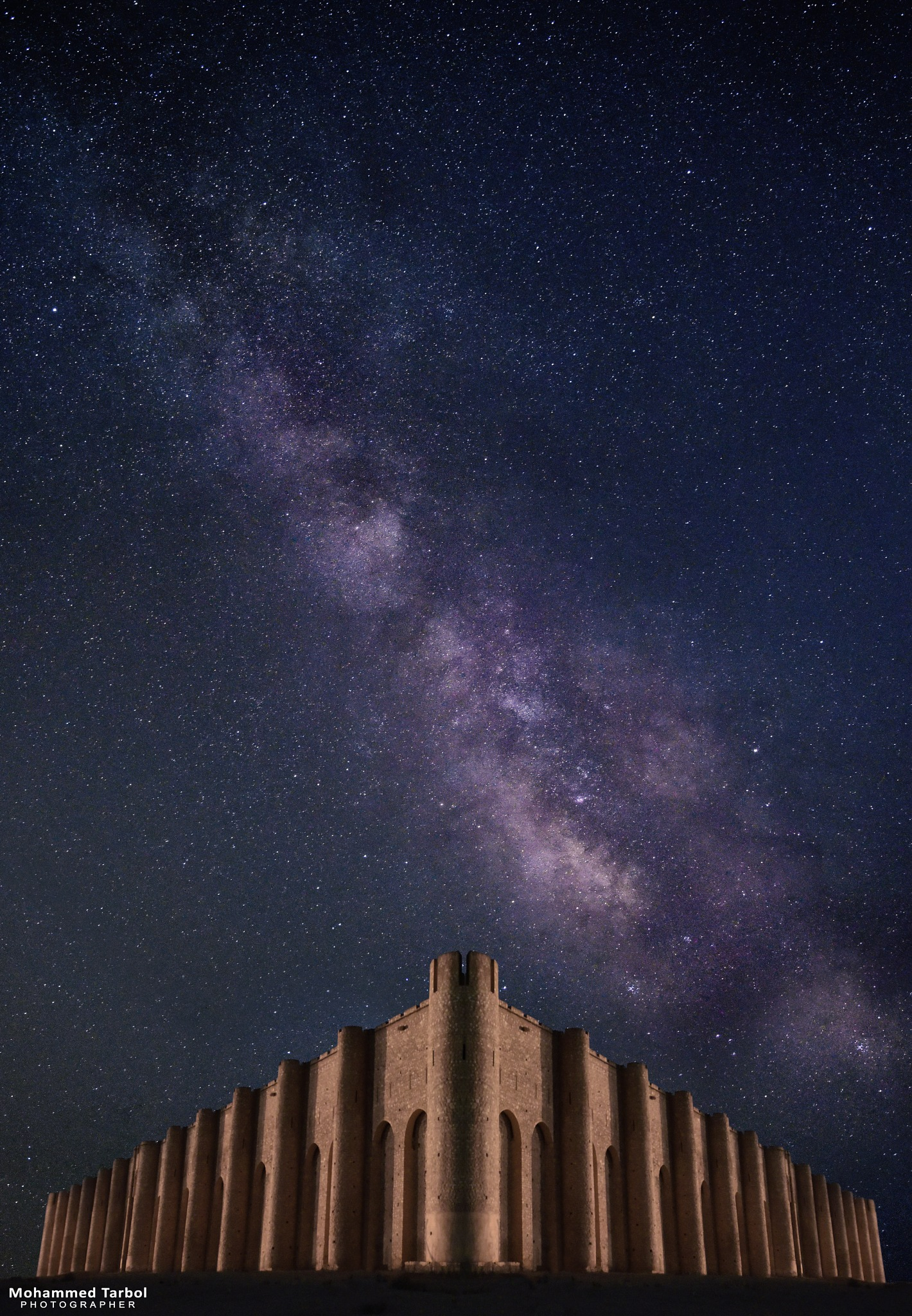 Al-Ukhaidar Fort and the Milky Way by Tarbol Al Khazali
