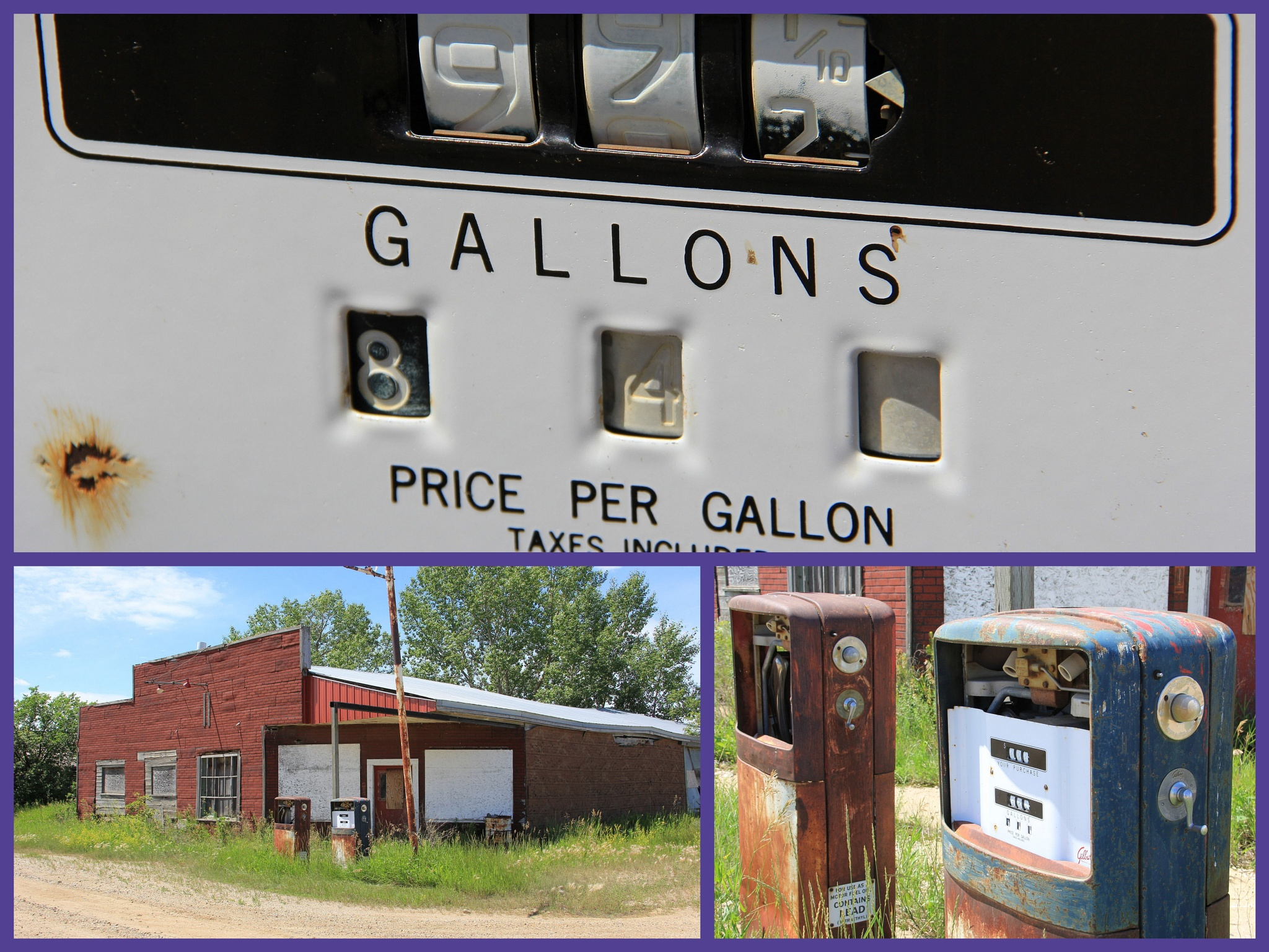 Derelict Gas Station - Bromhead Saskatchewan by Dan Loran