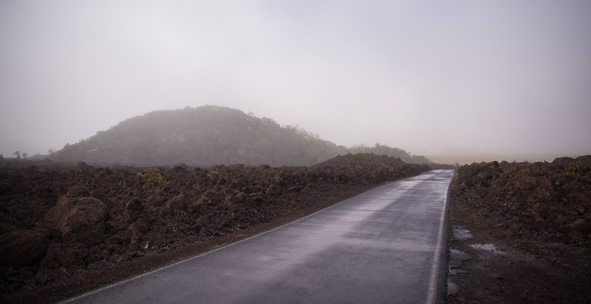 Lava Flow on HWY 200, HI by Kajean Secord Bennett