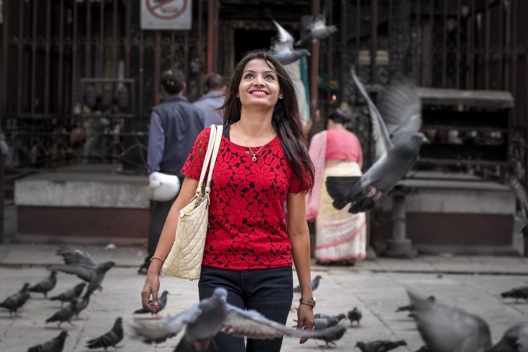 happy girl by Ahmed Amir