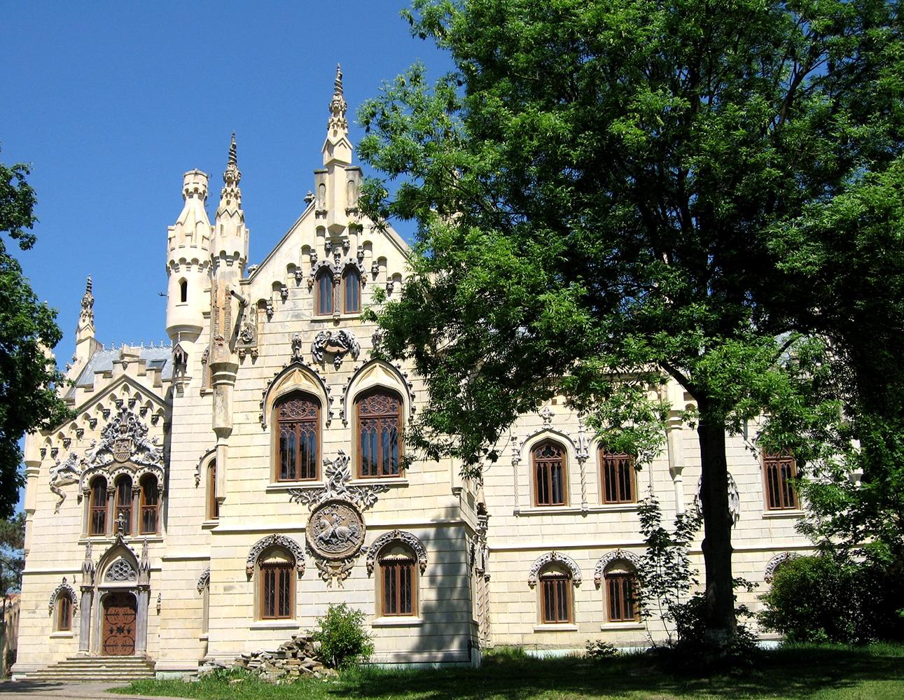 Photo in Architecture #sturdza #castle #romania #sky #nature #trees #green #blue #arhitecture