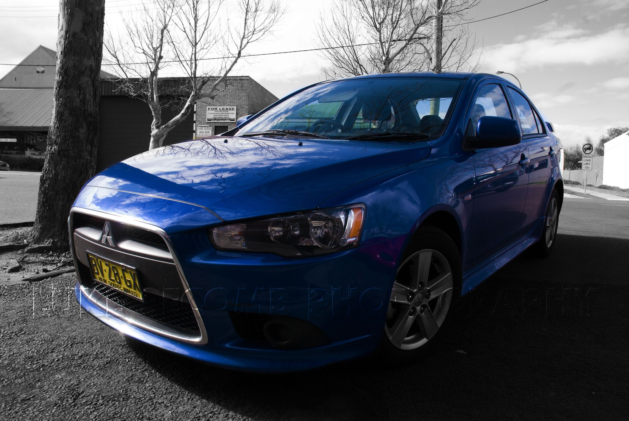 Blue Mitsubishi Lancer - Goulburn NSW by Luke Secomb
