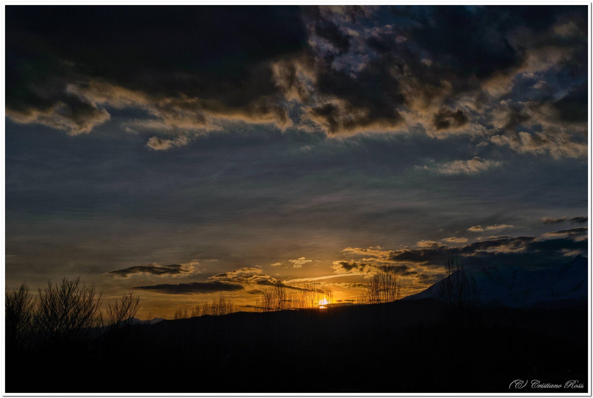 Tramonto primaverile sulle alpi - Spring sunset on the Alps by Cristiano Rossi