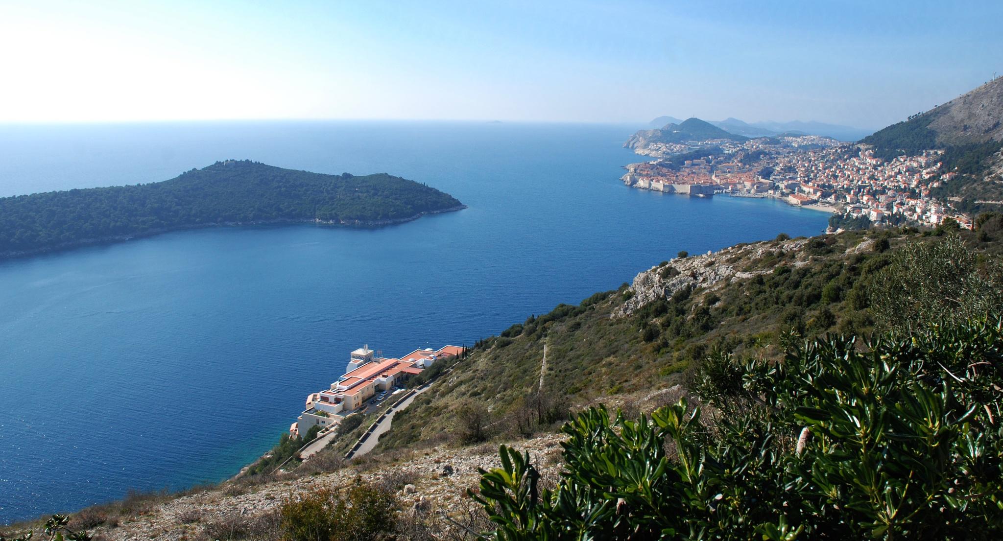 Dubrovnik with Lokrum Island by Rumen Semerdjiev