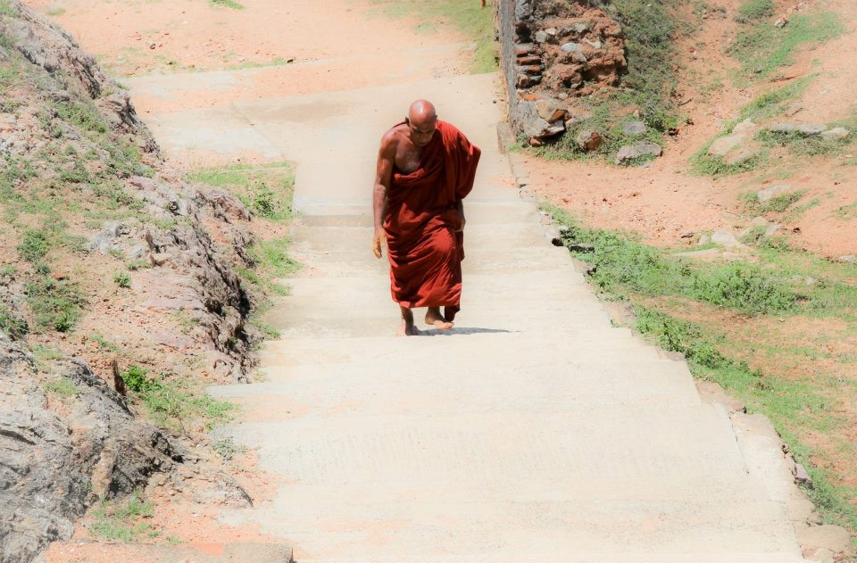 Photo in Abstract #monk #steps #buddhism