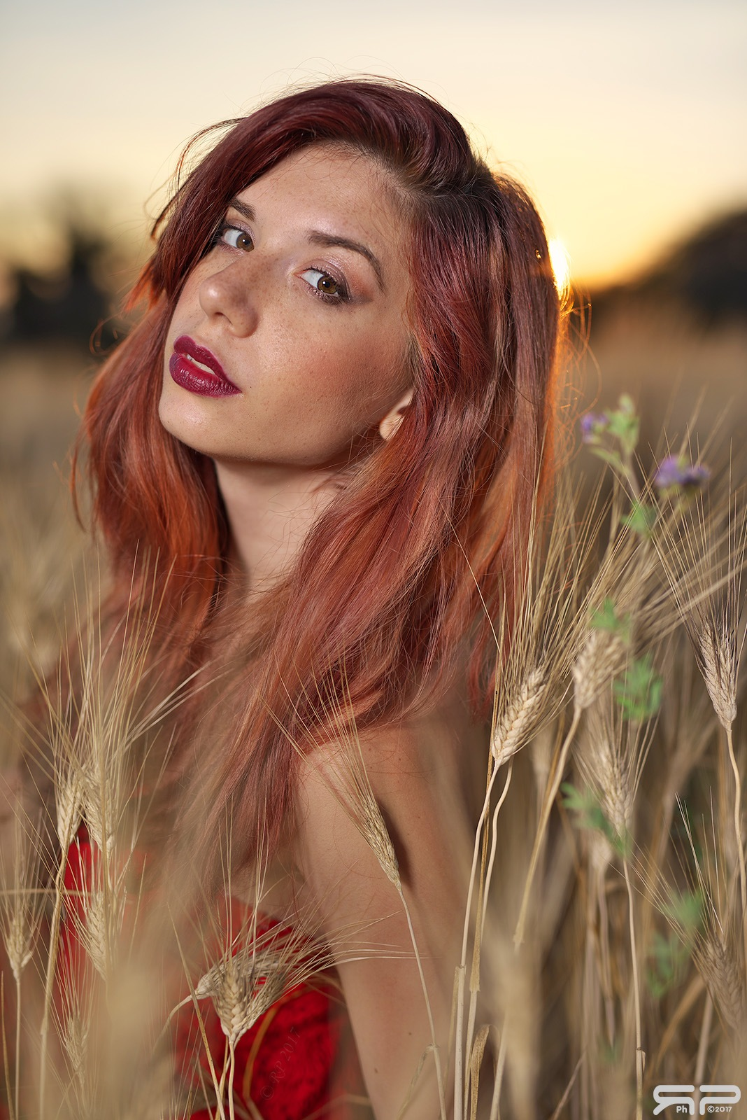 Portrait of Antonella at sunset by Roberto Perrella photography