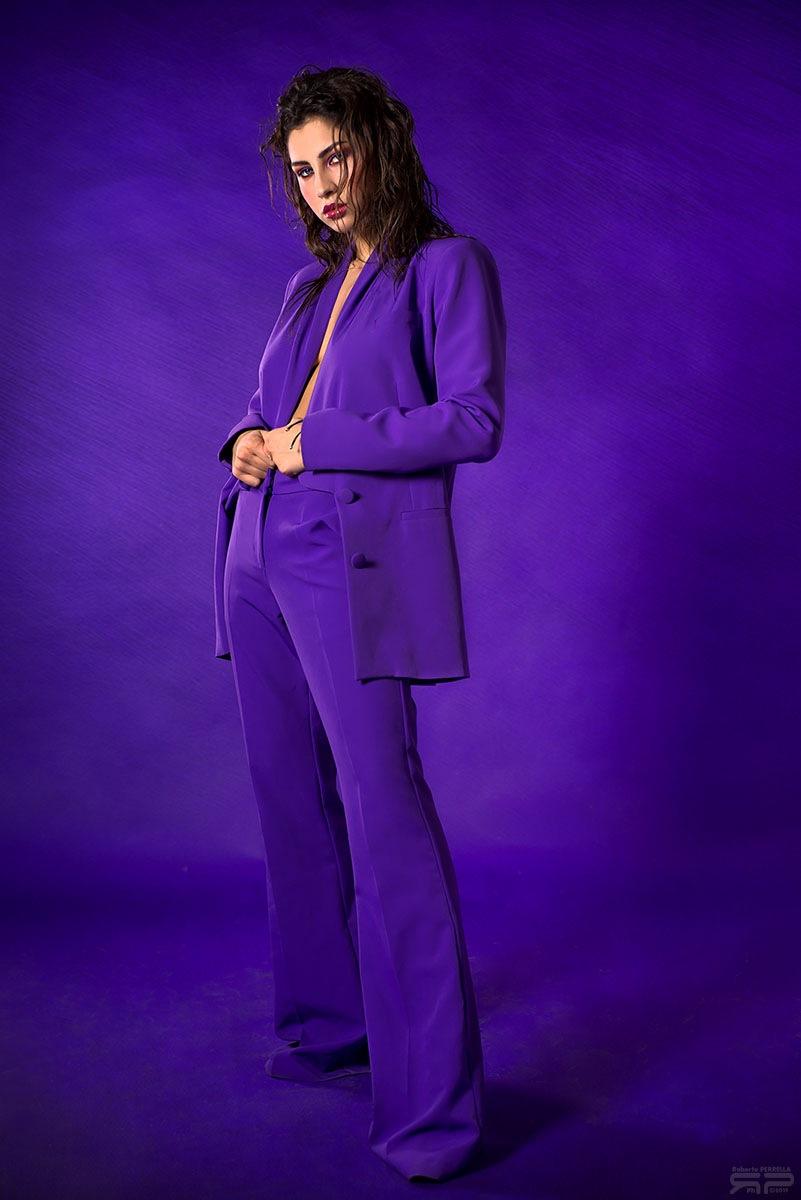 Photo in Fashion #purple #model #girl #beautiful #eyes #look #face #hair #brunette #studio #glamour #fashion