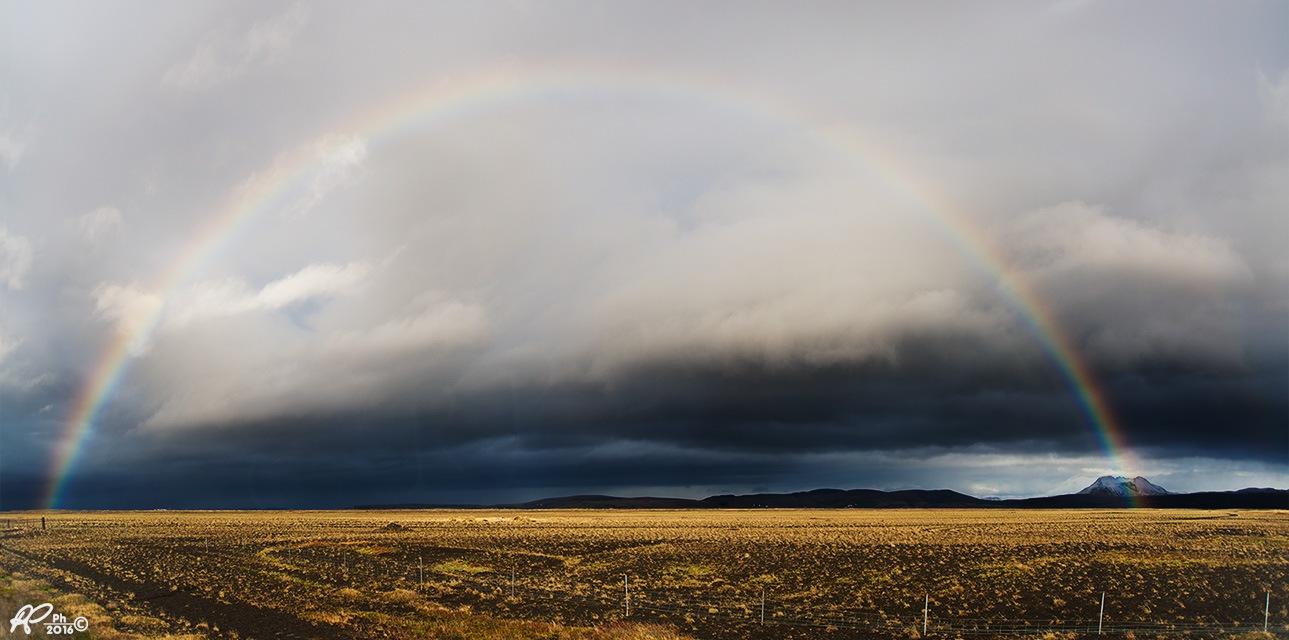 Eyjafjallajokull with a full rainbow ! by Roberto Perrella photography