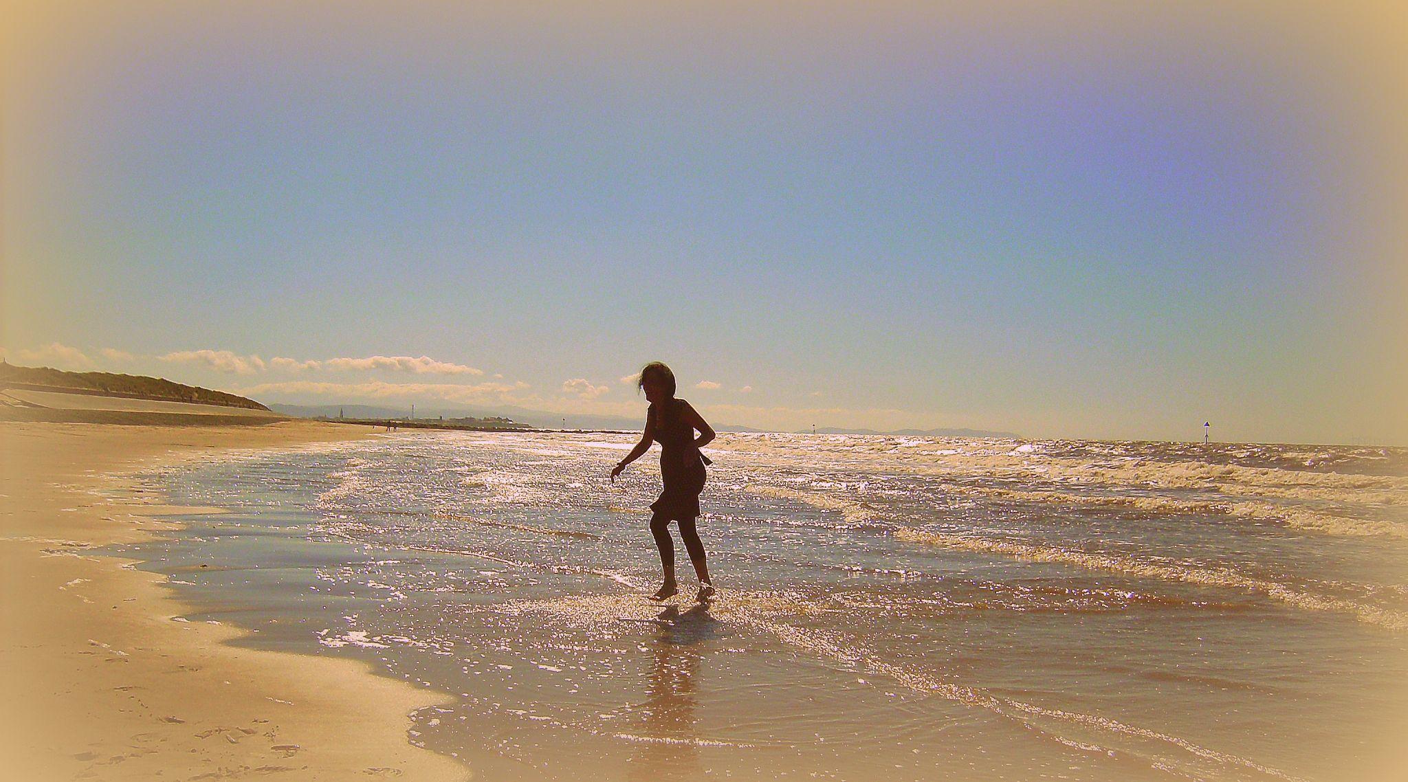 A dip in the sea... by Michelle Dimascio