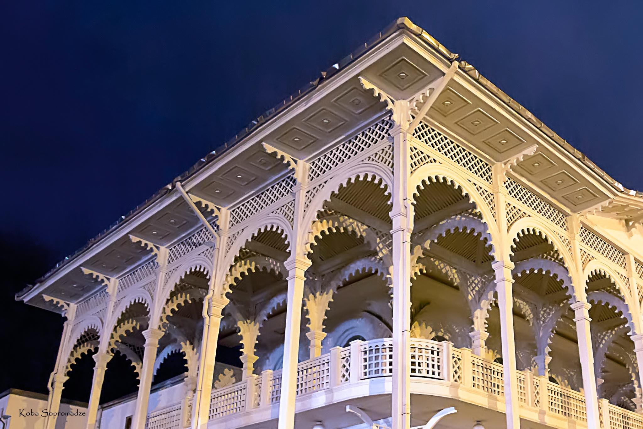 Photo in Architecture #night #house #batumi #georgia #street #streetphotography