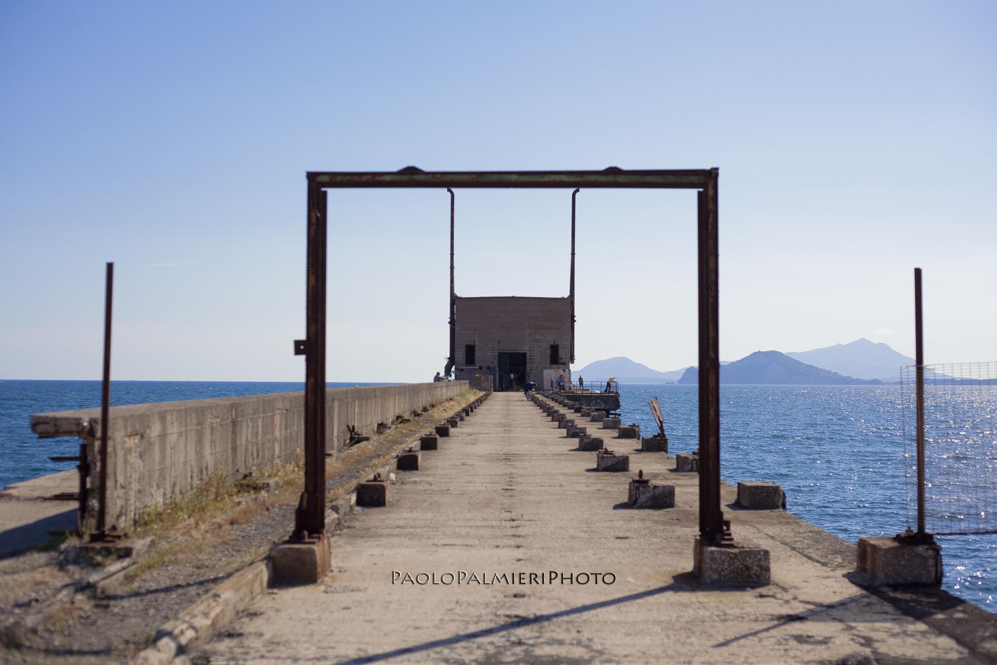Photo in Architecture #bagnoli #sea #simmetrie #naples