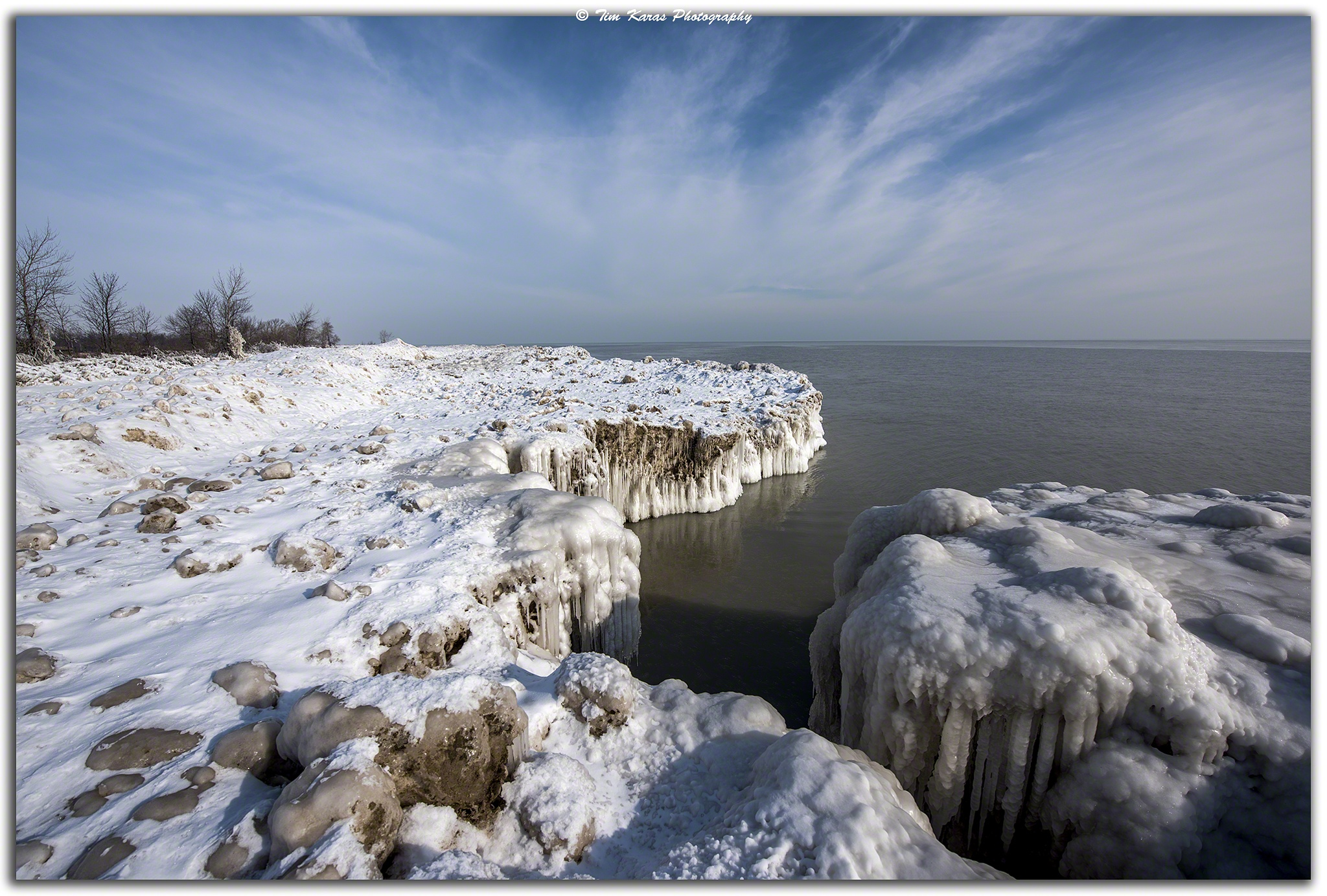 Frozen Beach by Tim Karas