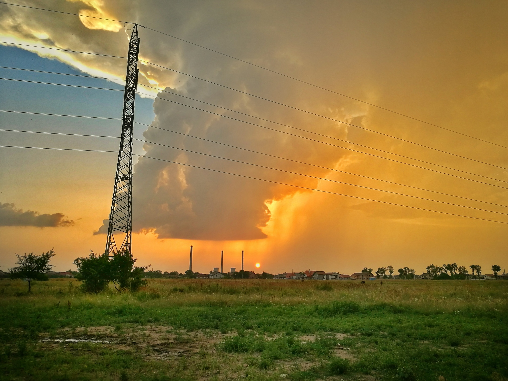rain at sunset  by Bogdan Vija