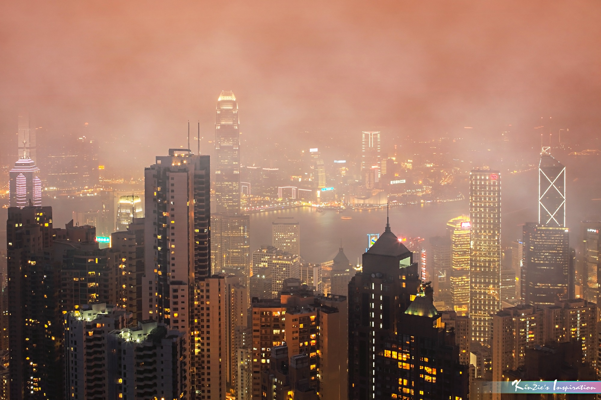 A Foggy Night in Hong Kong *A Popular Landmark* by iLOVEnature's Photography Inspiration