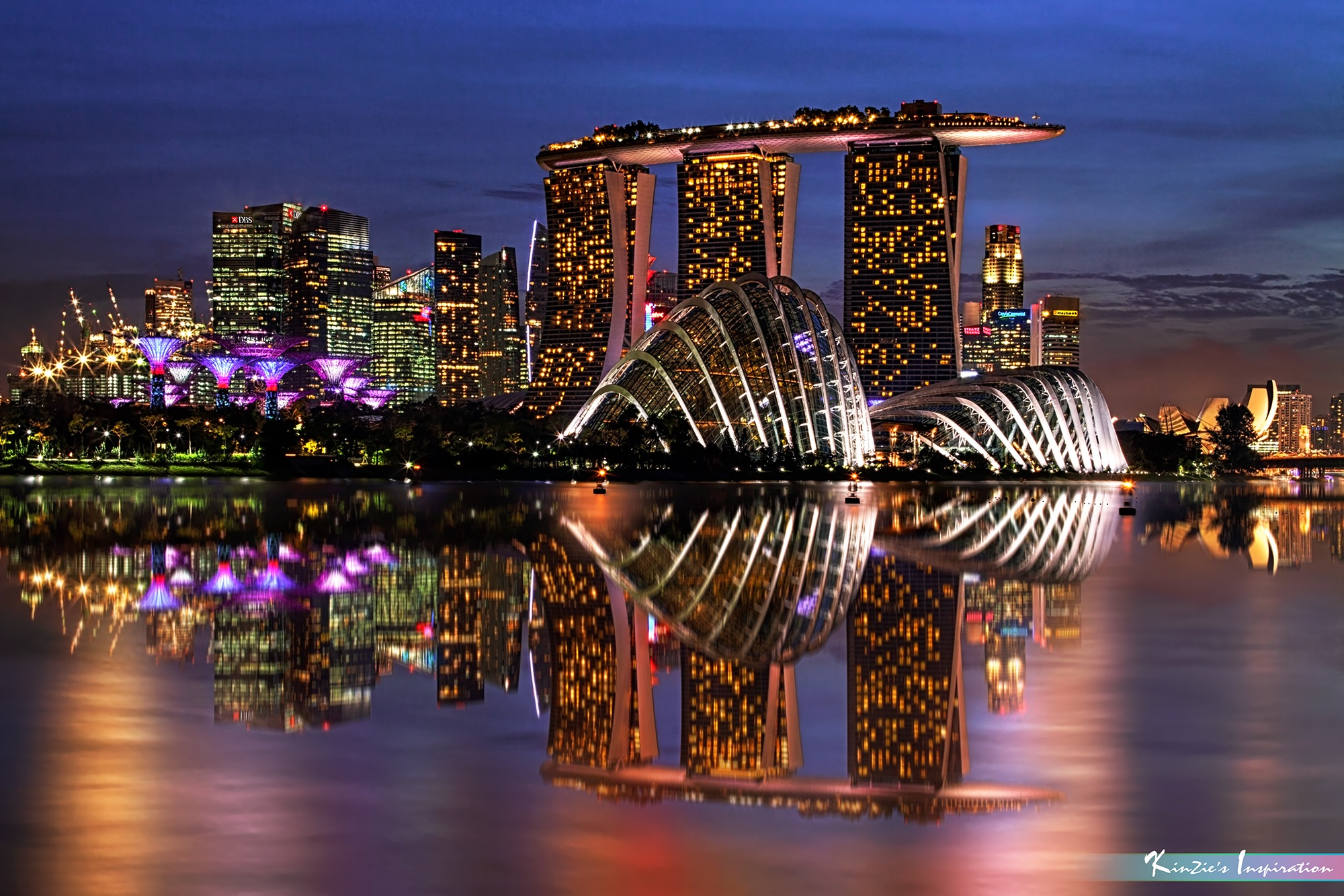藍光時分 l The Blue Hour, Gardens by the Bay *Corners of Singapore* by iLOVEnature's Photography Inspiration