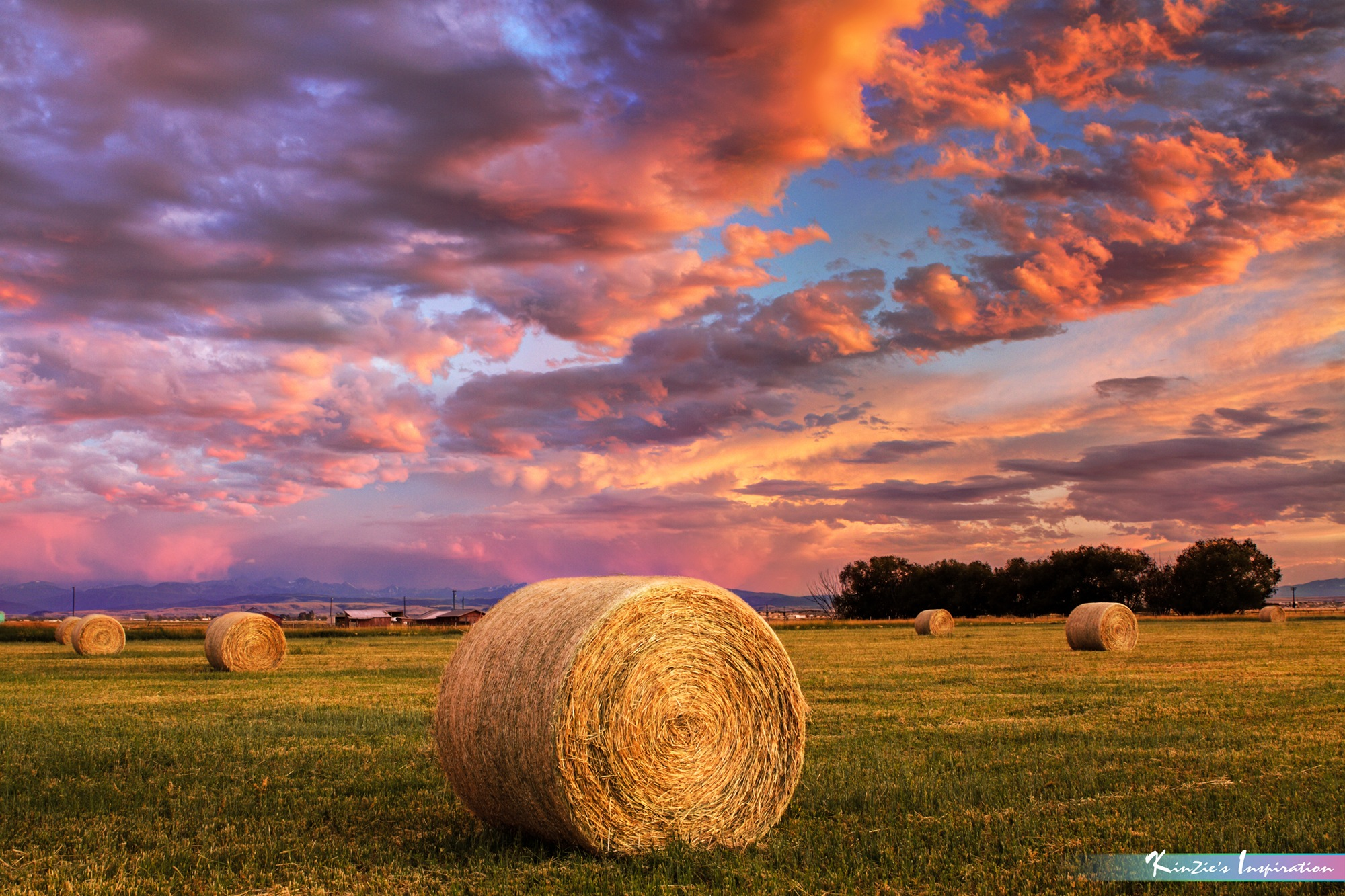 Hay Ranch in Sunset *A Beautiful Nature* by iLOVEnature's Photography Inspiration