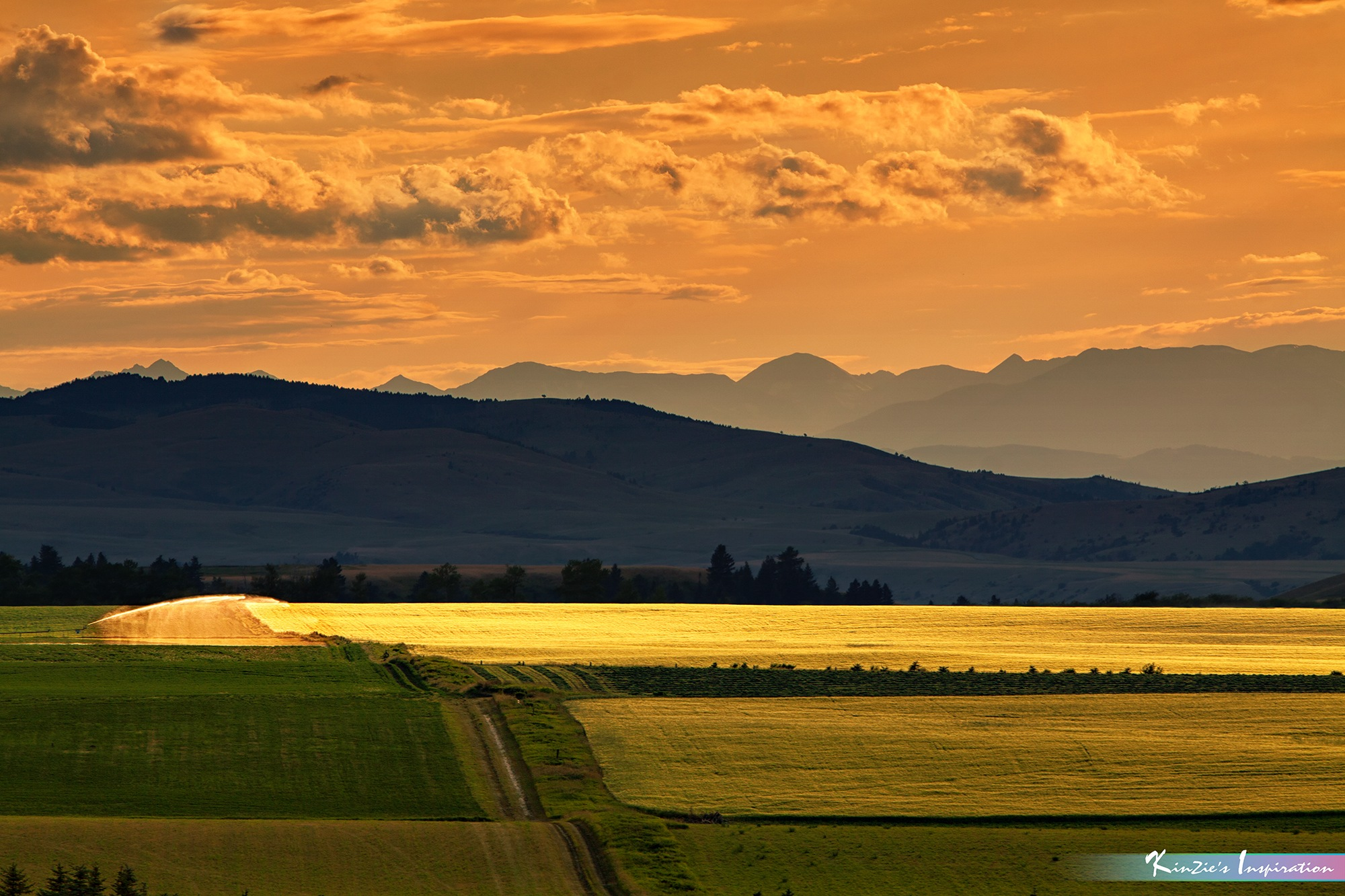 Scenic View of Corn Field & Mountain Layers in Sunset *A Beautiful Nature* by iLOVEnature's Photography Inspiration
