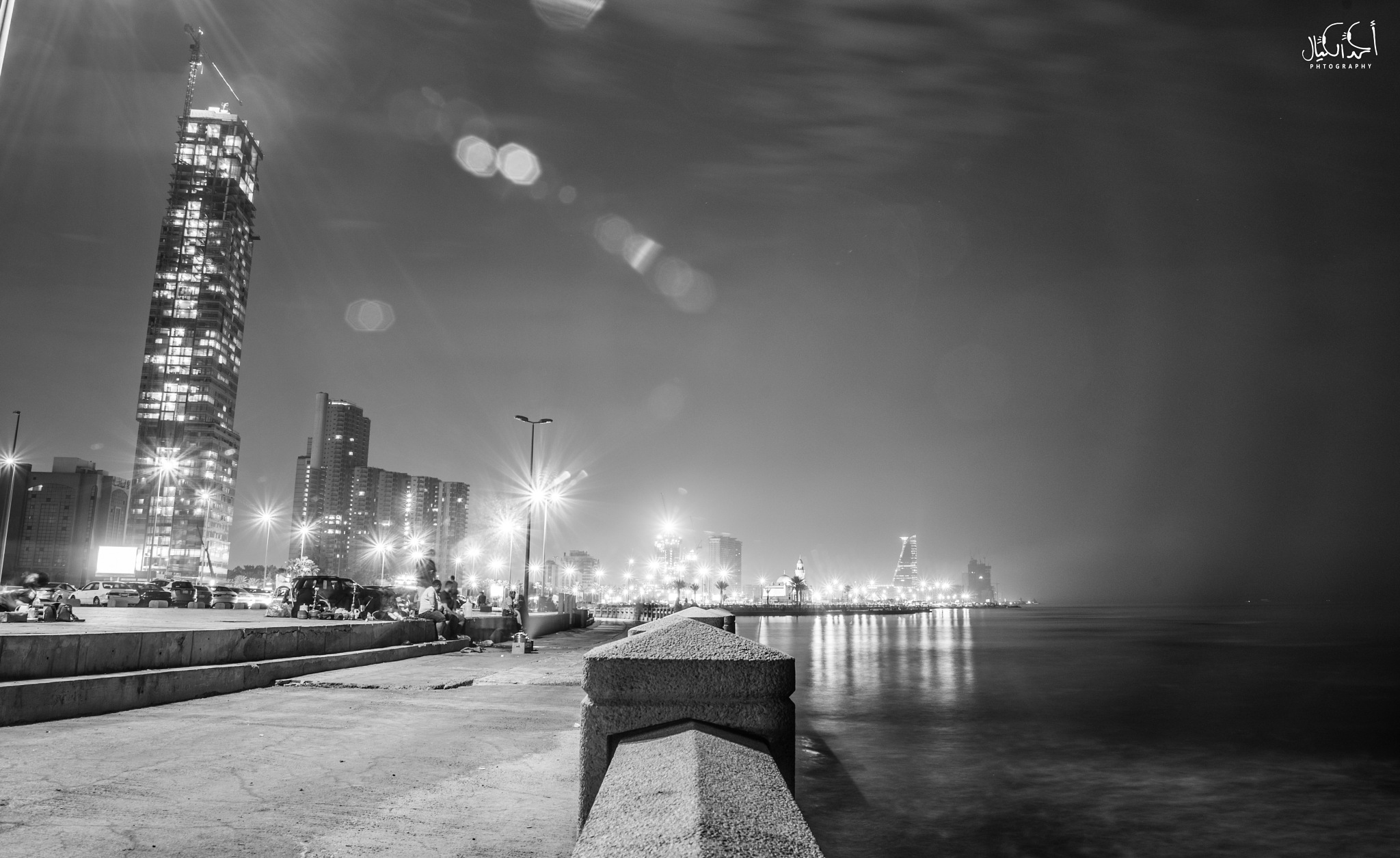 cityscape  black and wight hometown  by Ahmed Kayal
