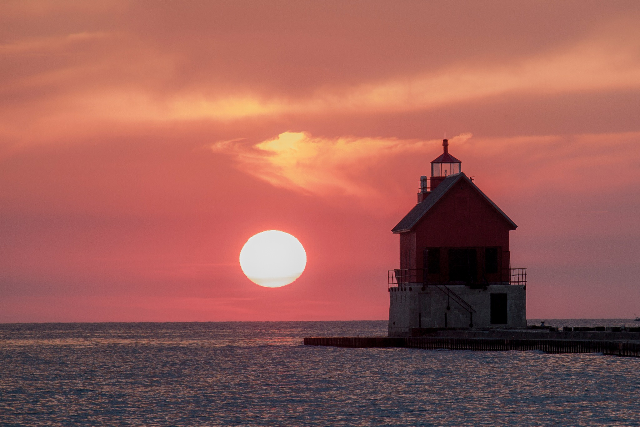 Lighthouse Sunset by Steve Fraser