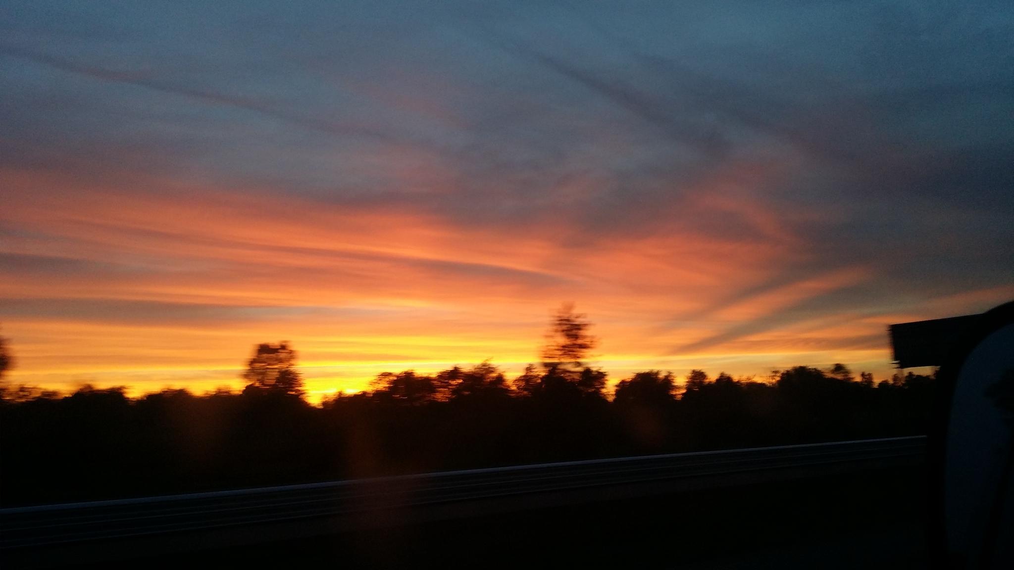Sunset over Portage by Riddler1