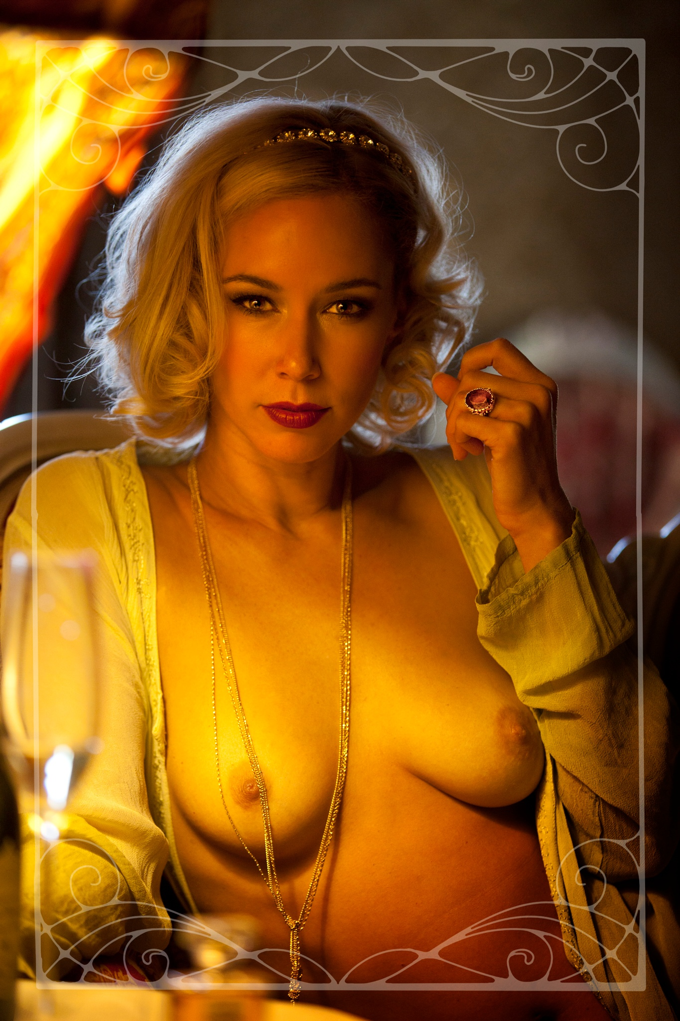 Heather Rae in A CHOICE BIT OF CALICO by Edward_Laughlin