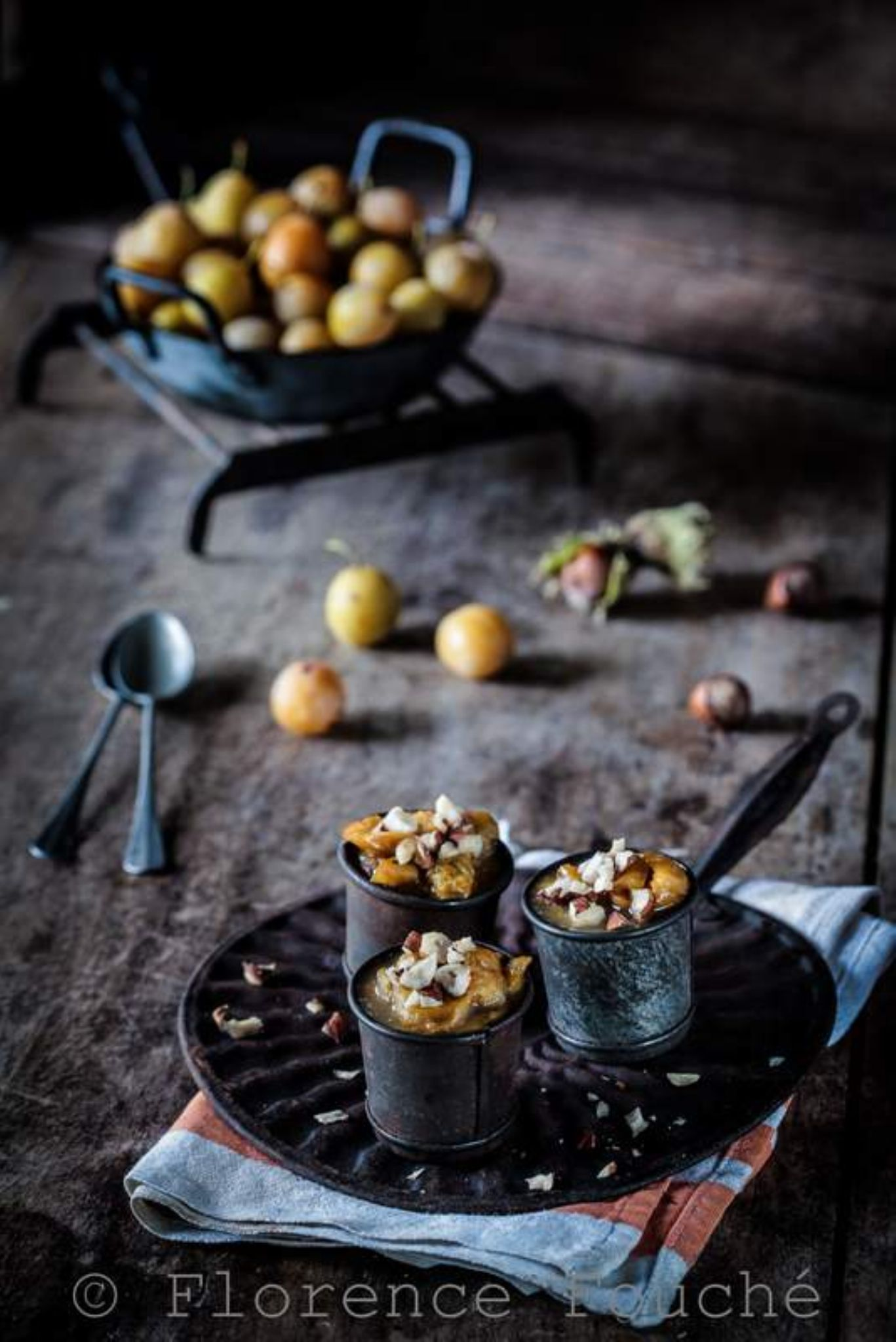 Stewed plums & hazelnuts by Florence Fouché