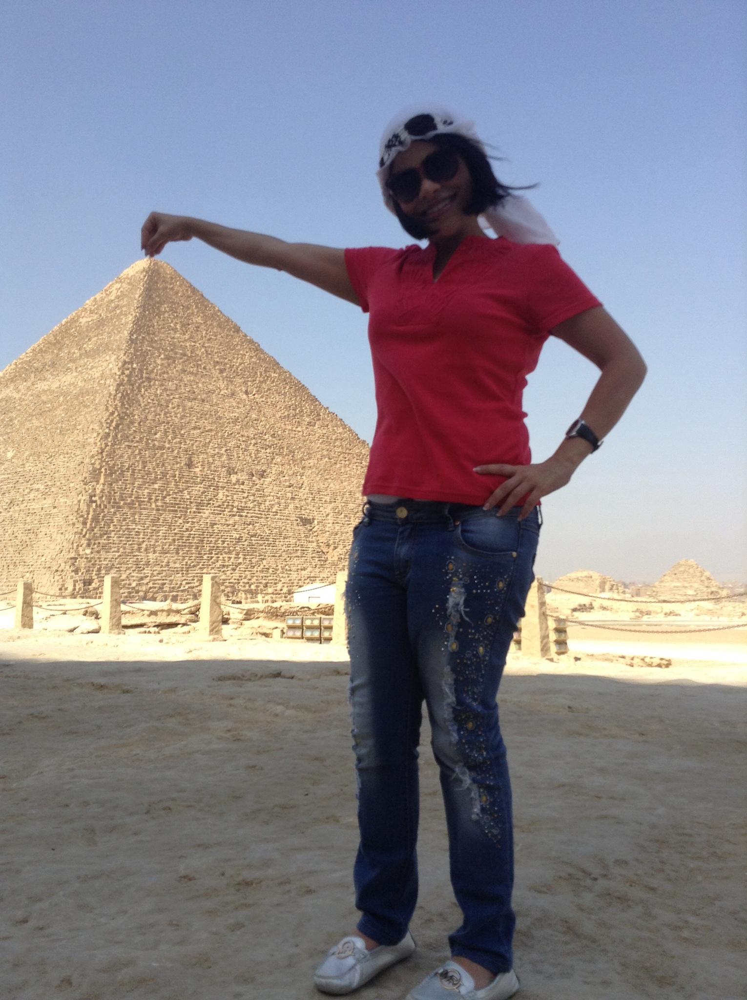 Me & pyramids  by Aya Bader