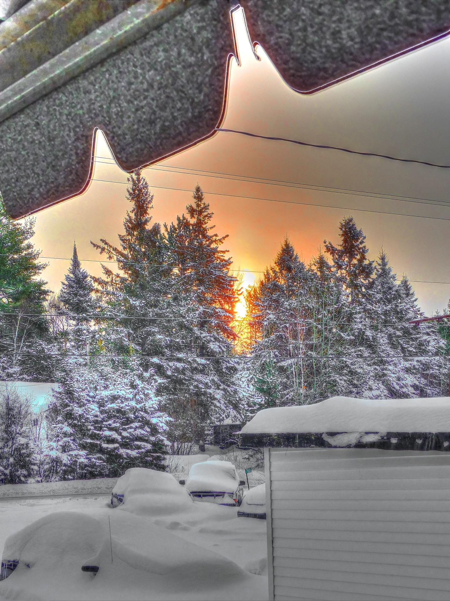 sunrise of the porch by Nigel Nicholas