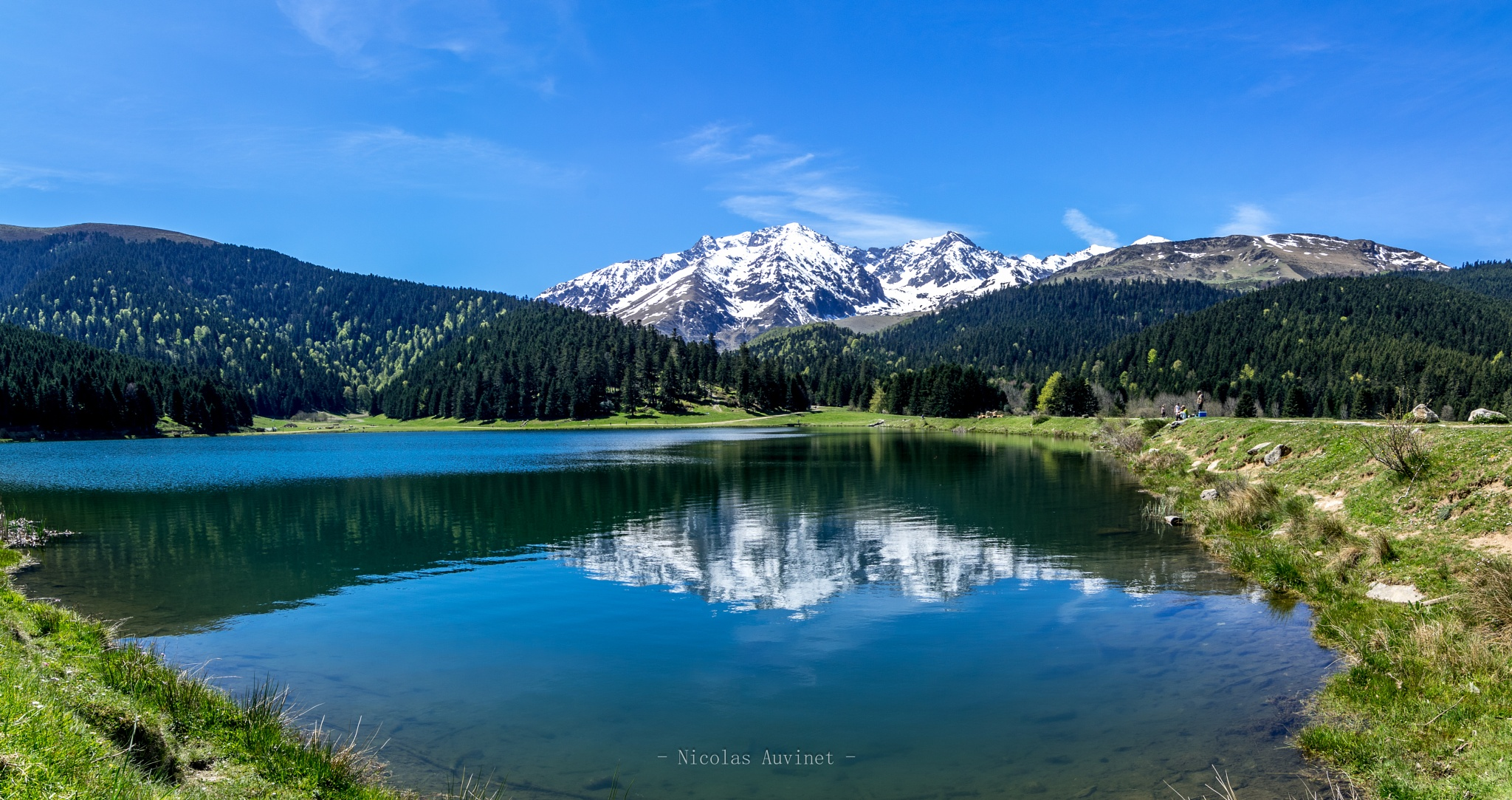 Photo in Landscape #moutain #snow #lake #water #reflection #forest
