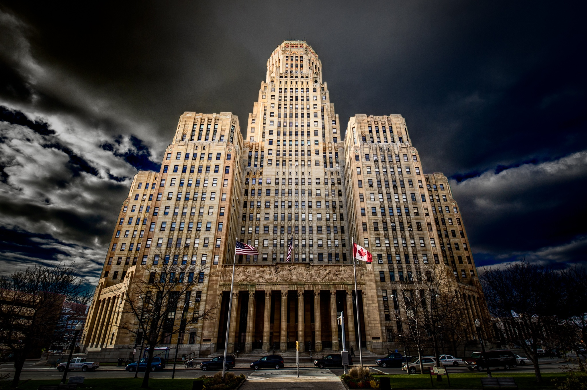 Photo in Architecture #architecture #buffalo #building #buffalony #city #cityhall #dramatic #clouds
