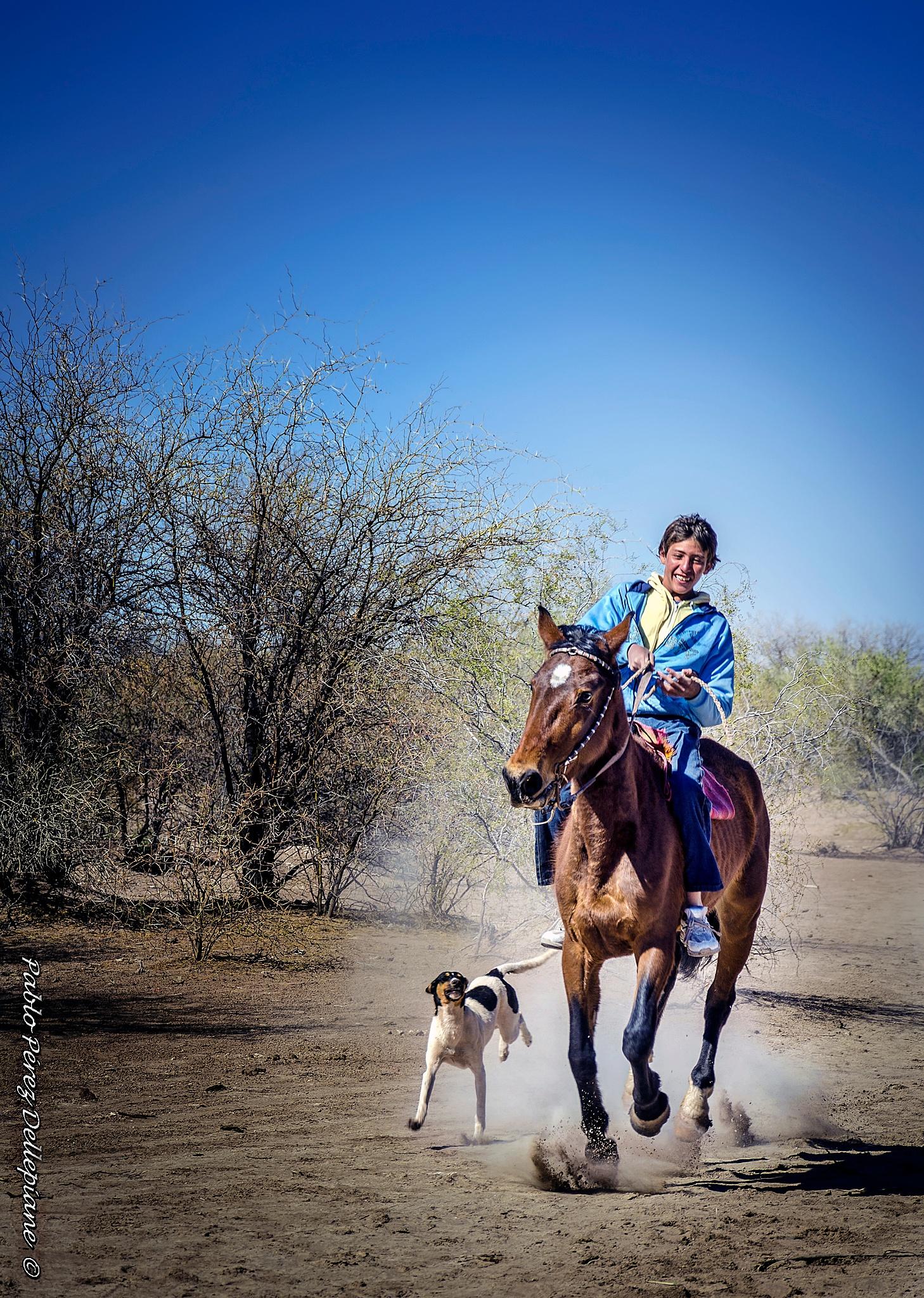 Niño , caballo y perro by PabloPerezDellepiane