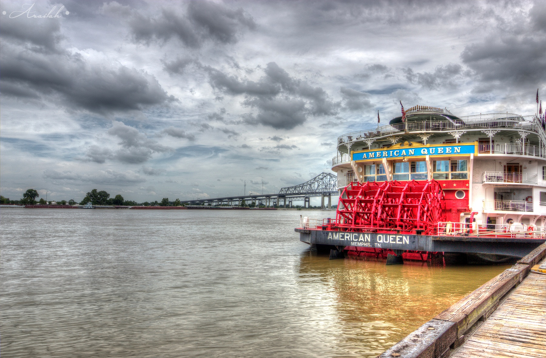 American Queen Riverboat by Victoria